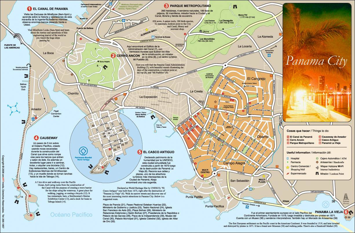 large panama city maps for free and print high