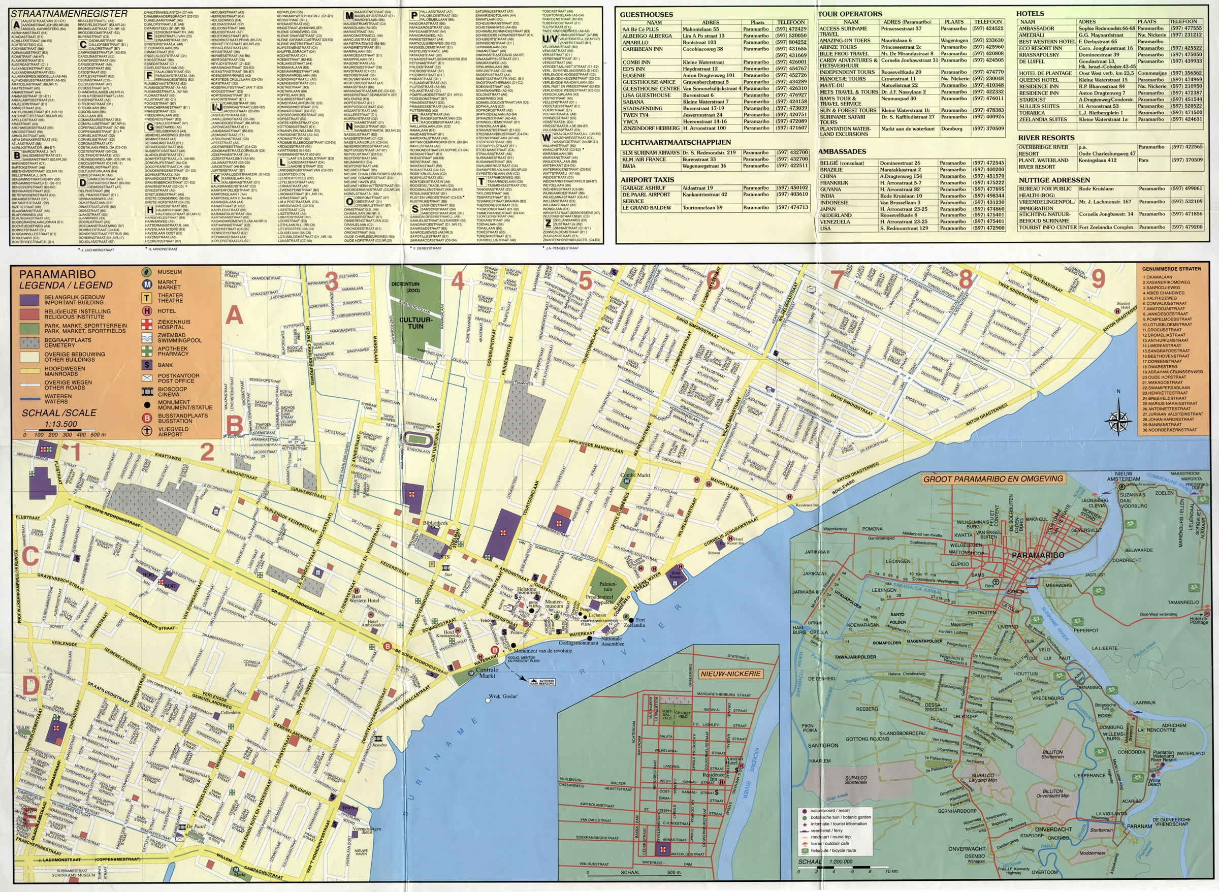 Large Paramaribo Maps For Free Download And Print High - paramaribo map