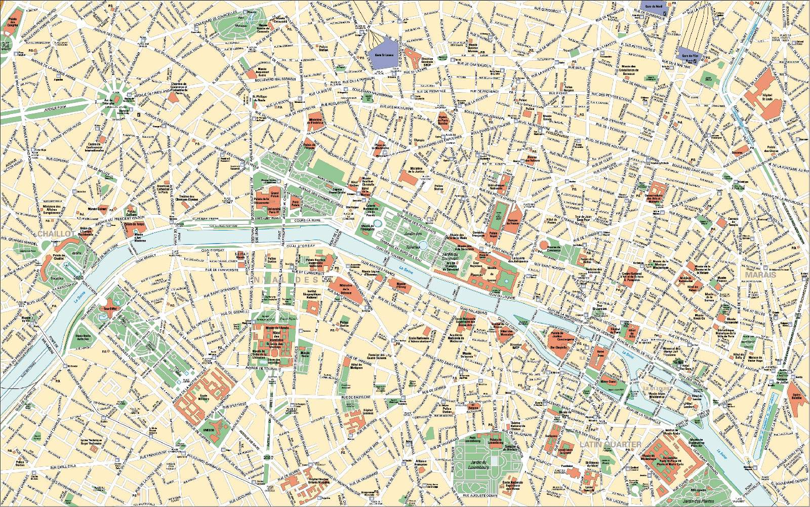 Large Paris Maps for Free Download and Print | High-Resolution and ...
