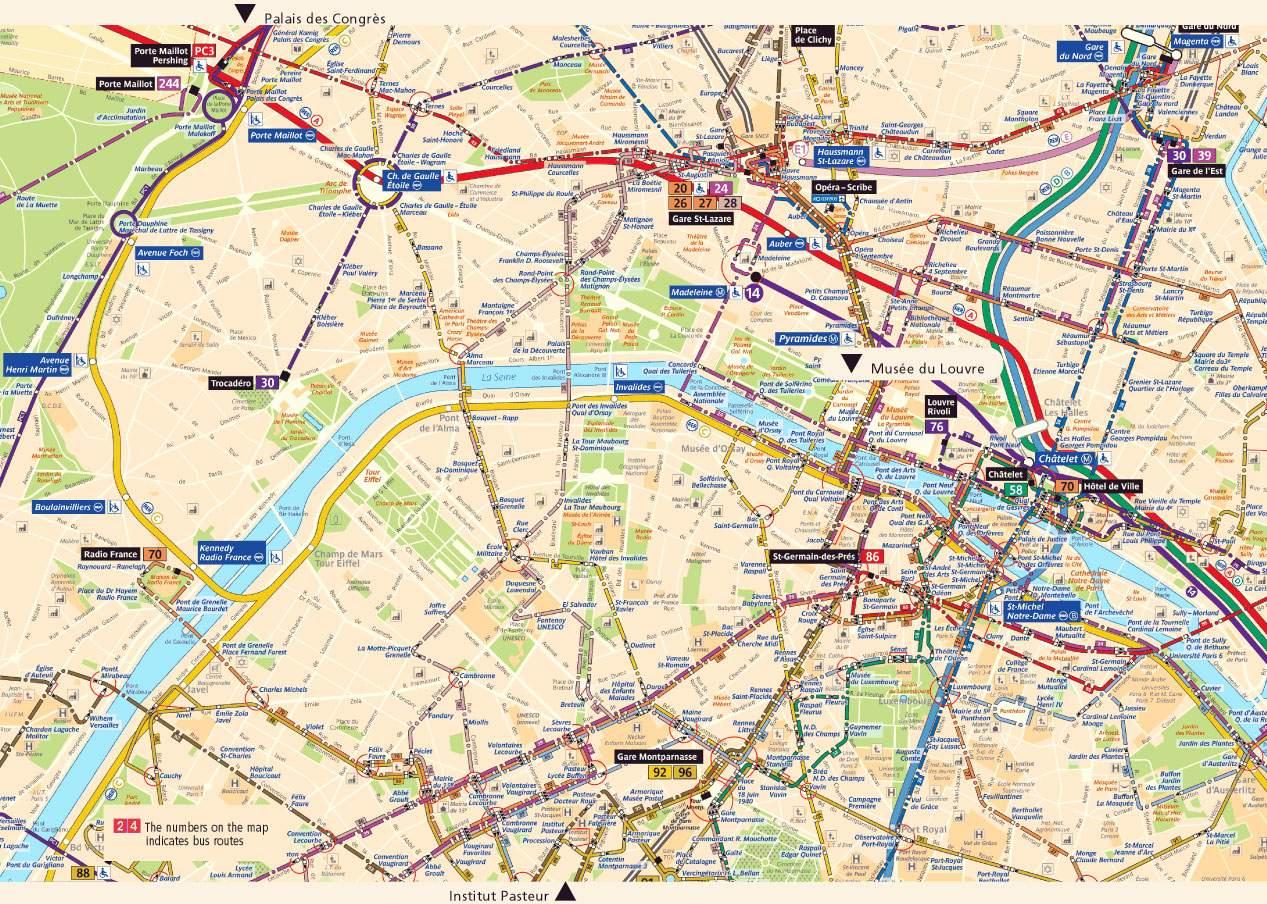 Stadtplan von Paris | Detaillierte gedruckte Karten von Paris