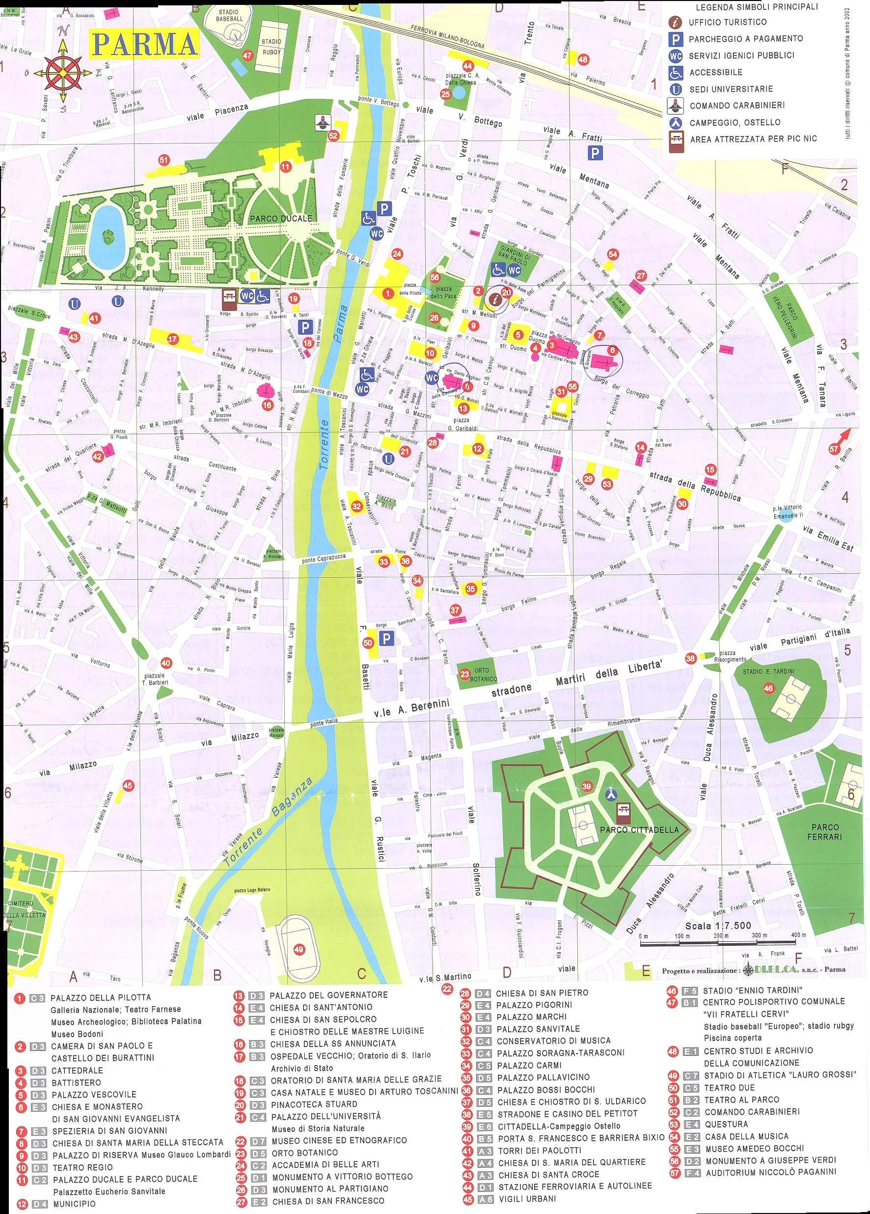 parma italy map