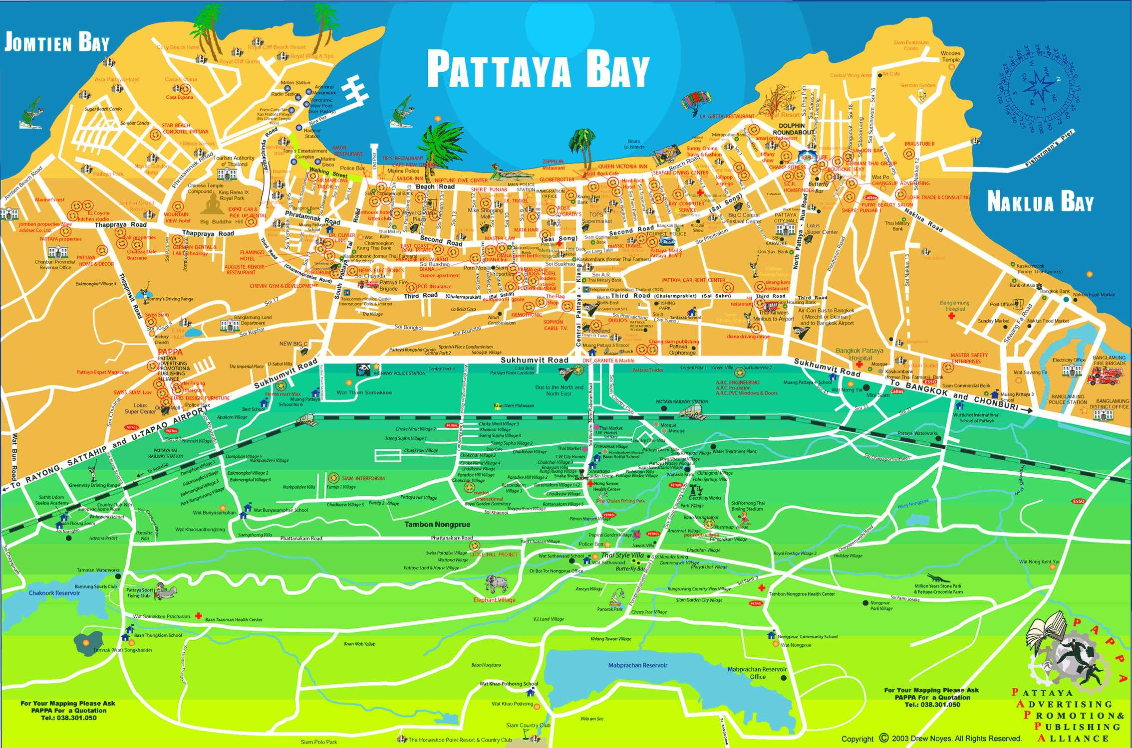 Large Pattaya Maps for Free Download and Print HighResolution and