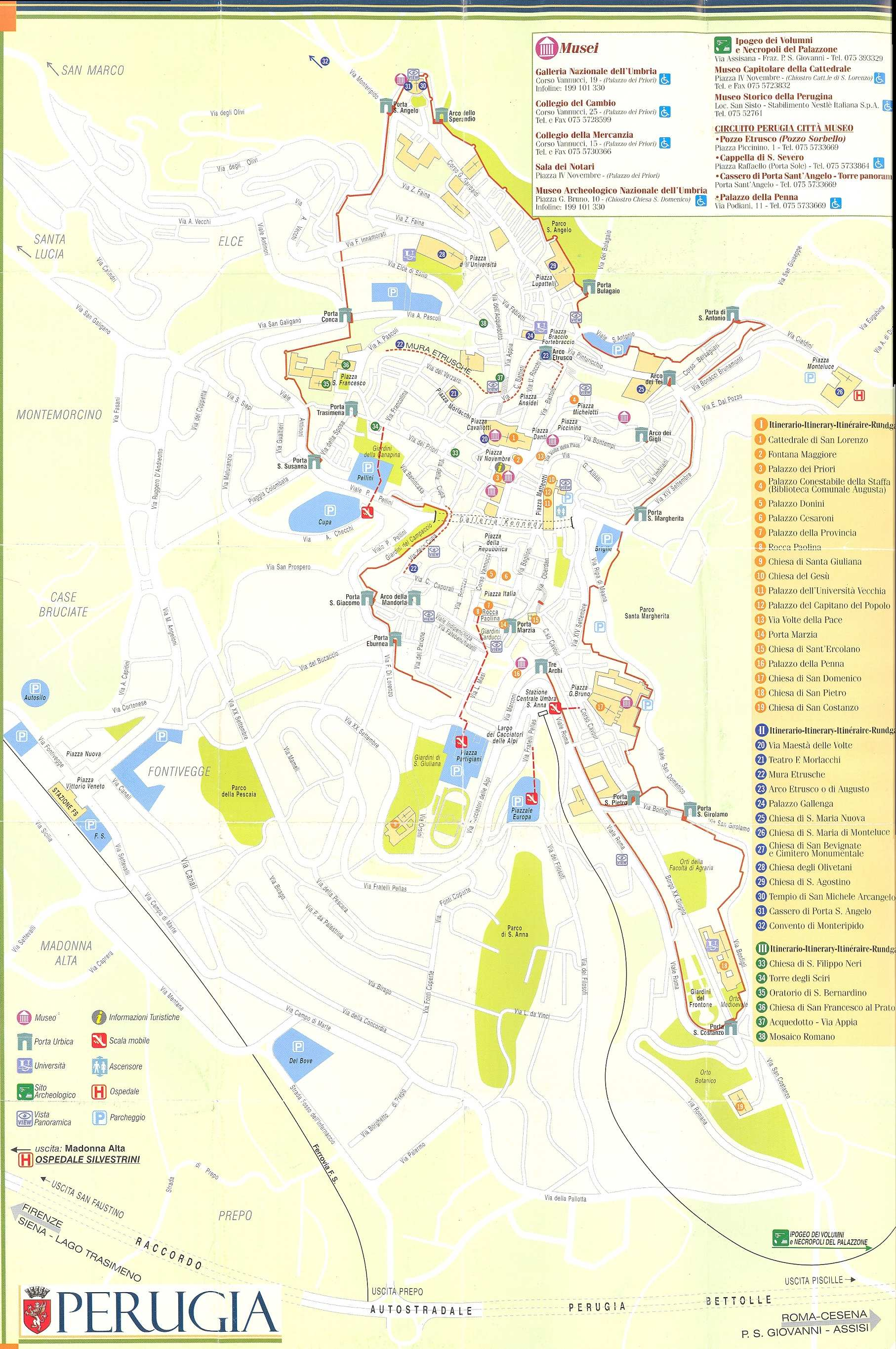 Perugia Italy Map Large Perugia Maps for Free Download and Print | High Resolution