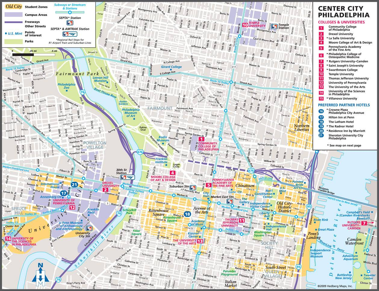 Large Philadelphia Maps for Free Download and Print | High ... on