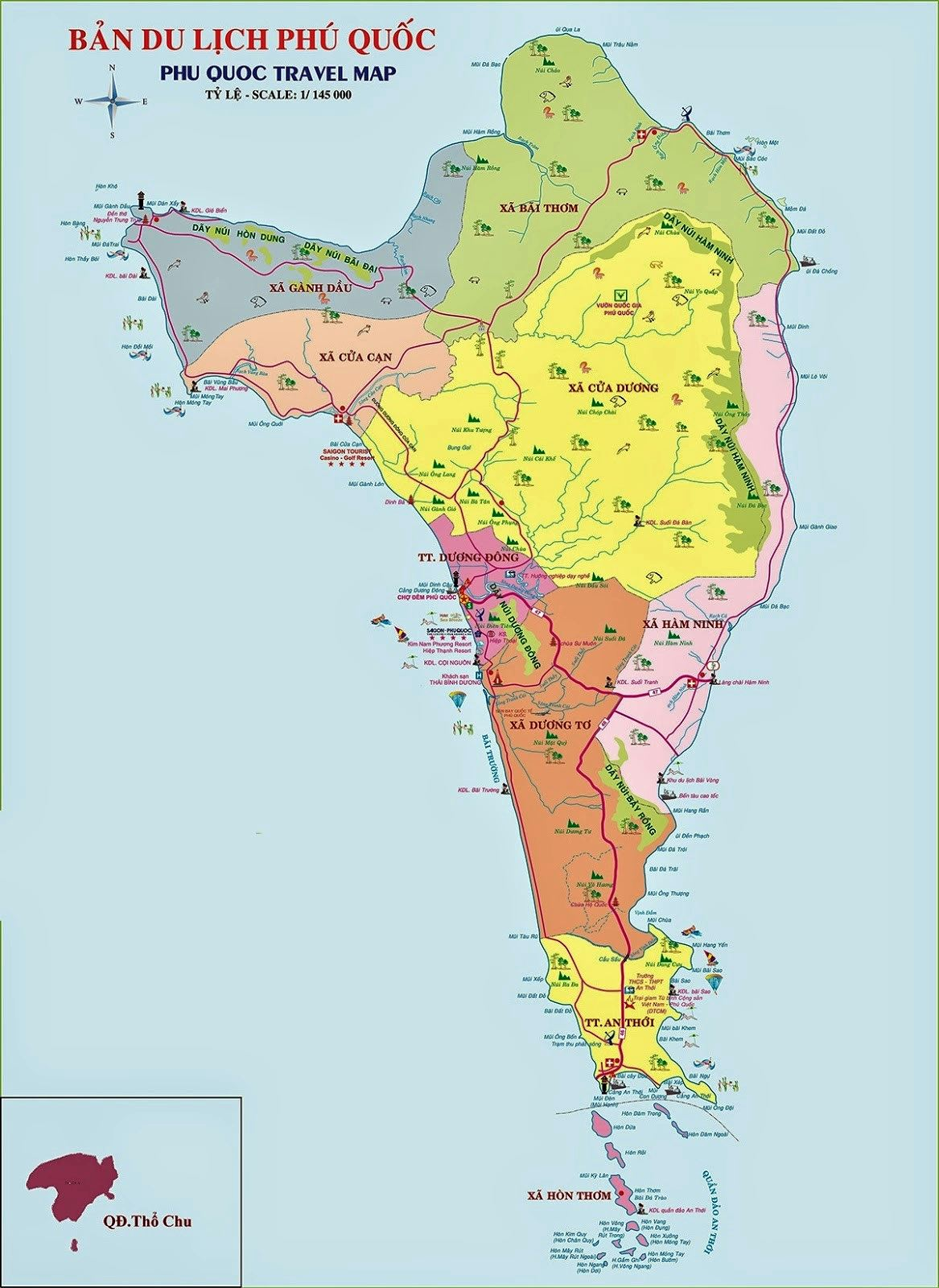 Large Phu Quoc Island Maps For Free Download And Print