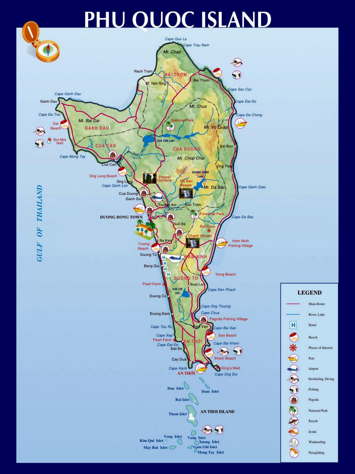Map Of Phu Quoc Island Large Phu Quoc Island Maps for Free Download and Print | High