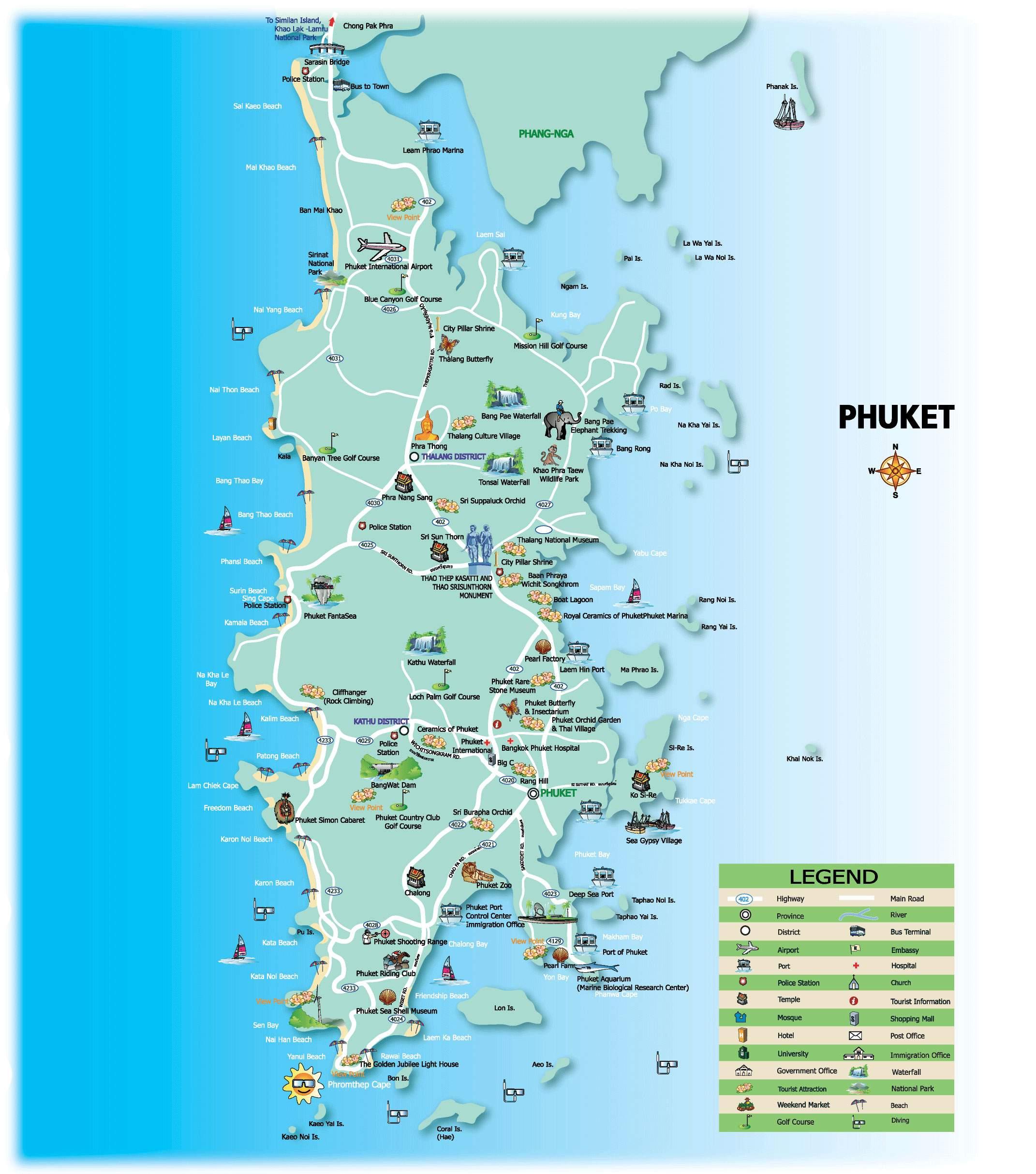Map Of Phuket Large Phuket Maps for Free Download and Print | High Resolution  Map Of Phuket