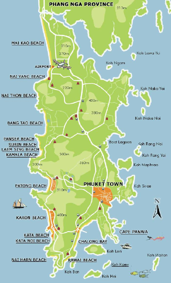 Detailed Map Of Phuket Thailand