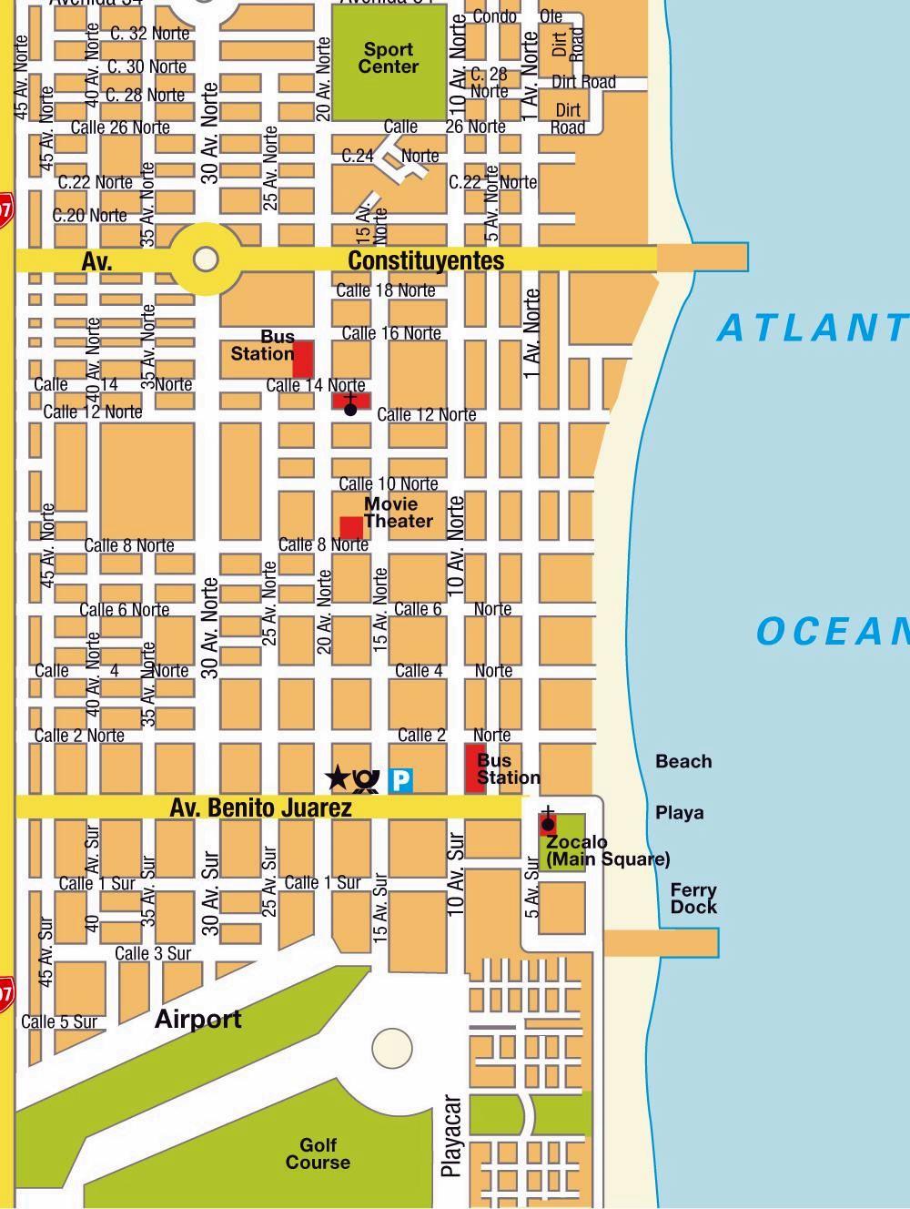 Playa Del Carmen Map Large Playa del Carmen Maps for Free Download and Print | High  Playa Del Carmen Map