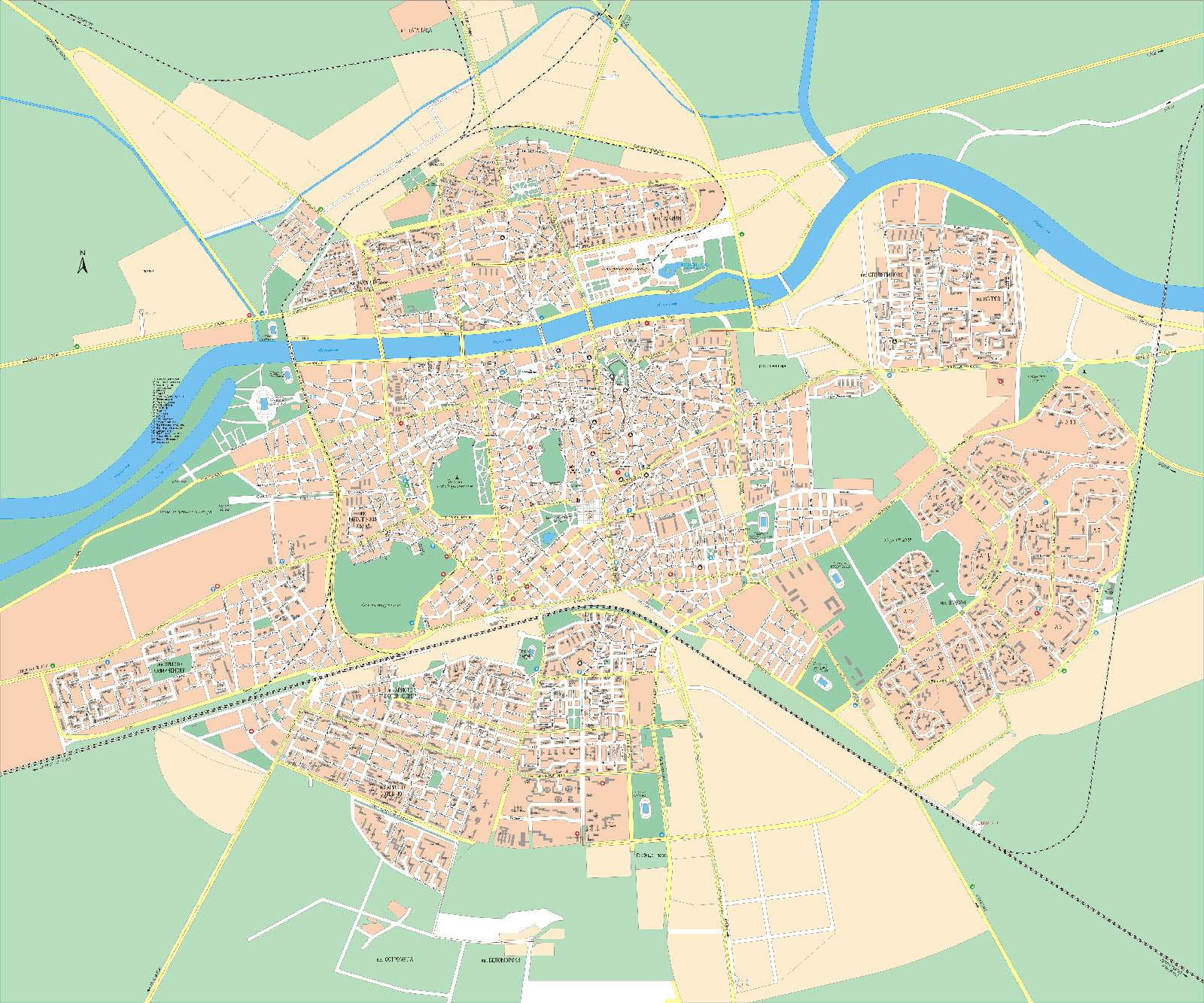Large Plovdiv Maps For Free Download And Print High Resolution