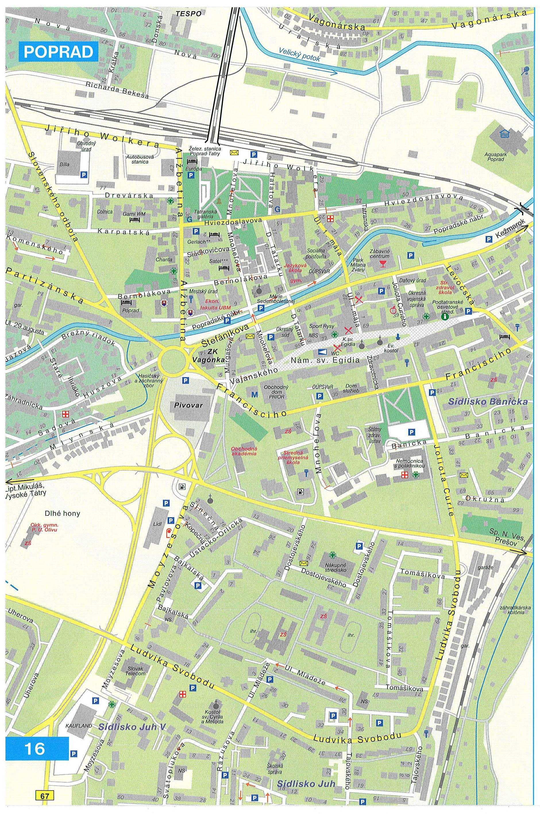 Large Poprad Maps For Free Download And Print High