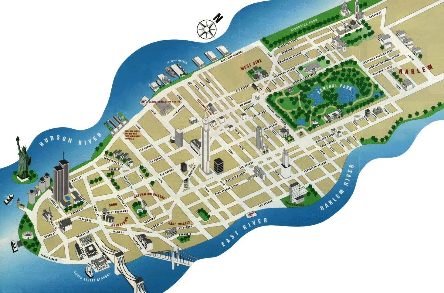 detailed map of manhattan 2