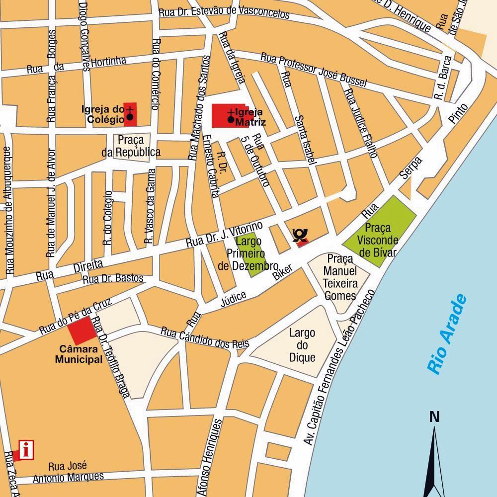 Flughafen Algarve Karte.Stadtplan Von Portimao Detaillierte Gedruckte Karten Von Portimao