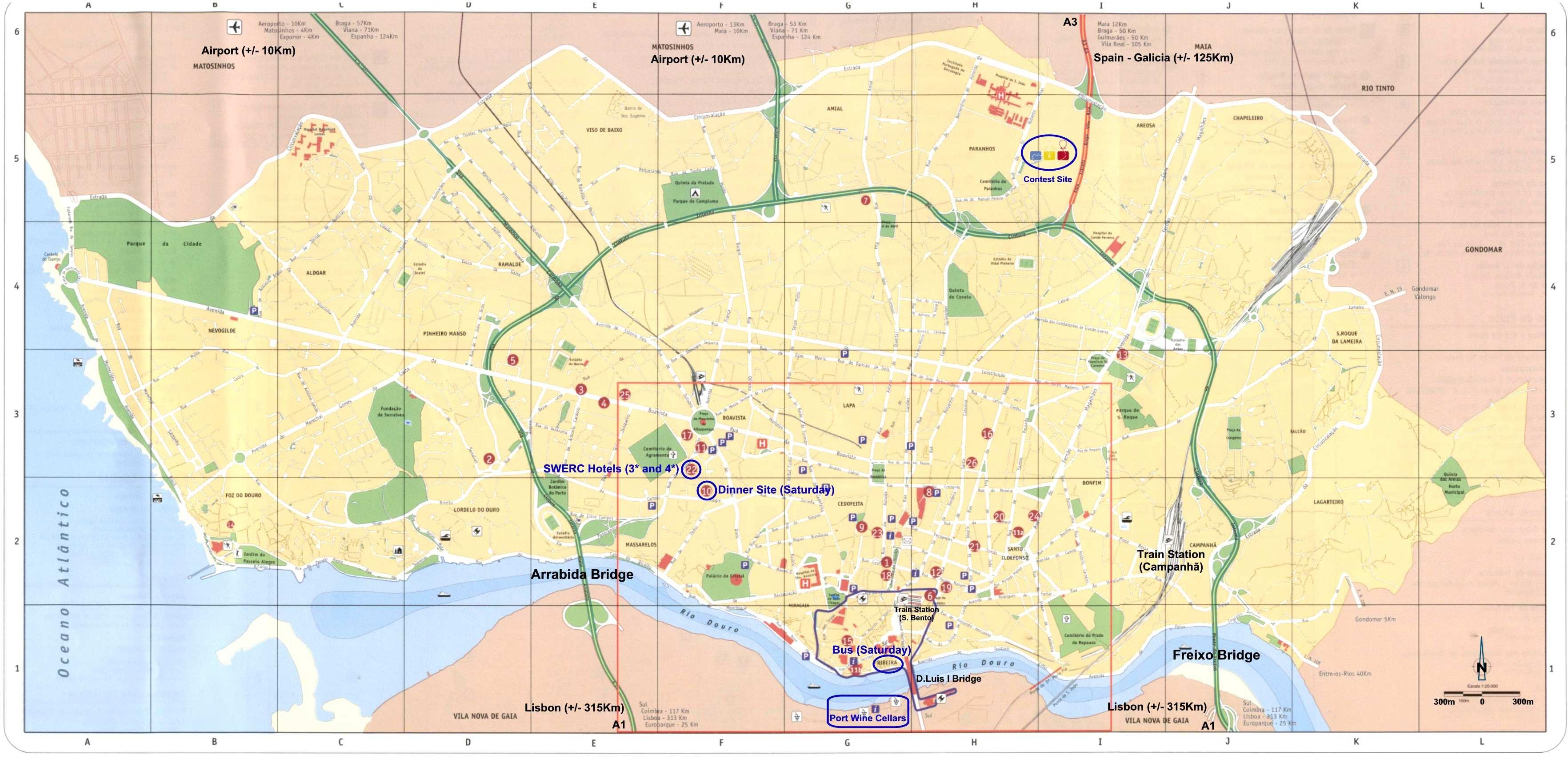 mapa do porto pdf Large Porto Maps for Free Download and Print | High Resolution and  mapa do porto pdf