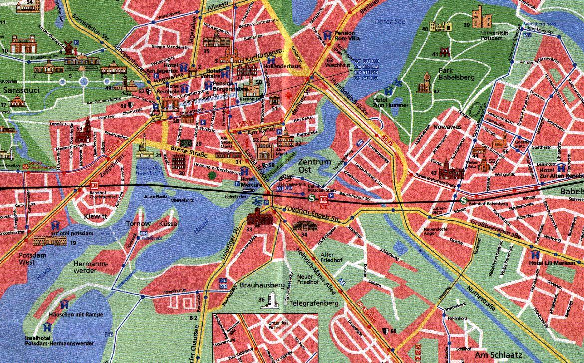 large potsdam maps for free download and print  highresolution  - detailed map of potsdam