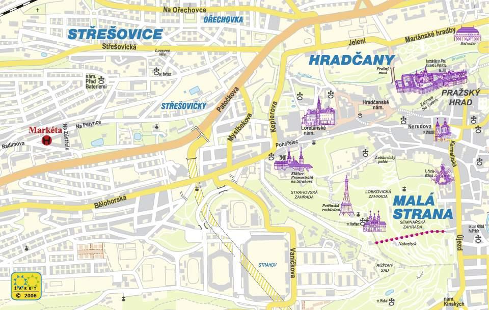 Prag Karte Tschechien.Stadtplan Von Prag Detaillierte Gedruckte Karten Von Prag