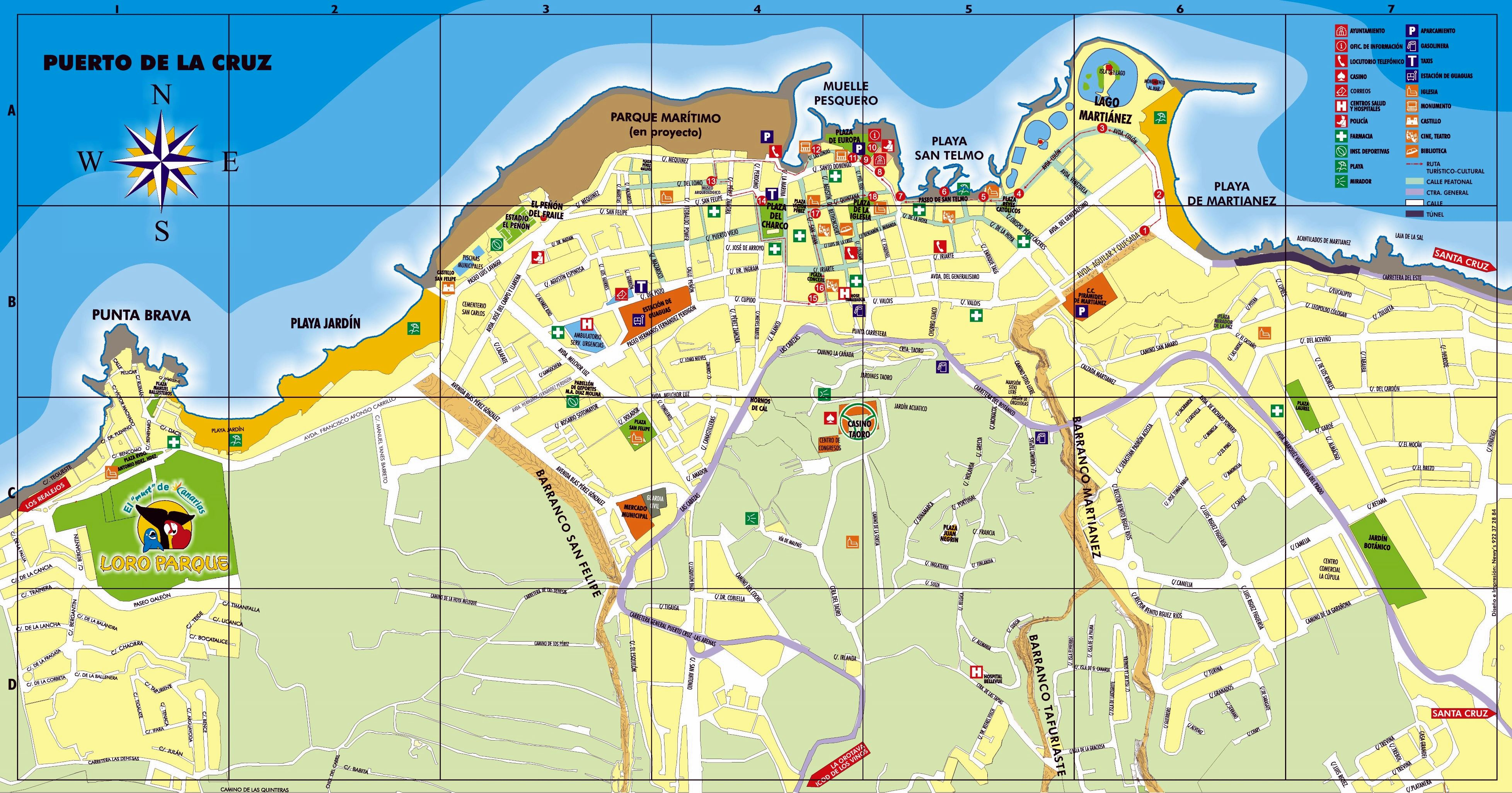 Detailed Map Of Puerto De La Cruz 2