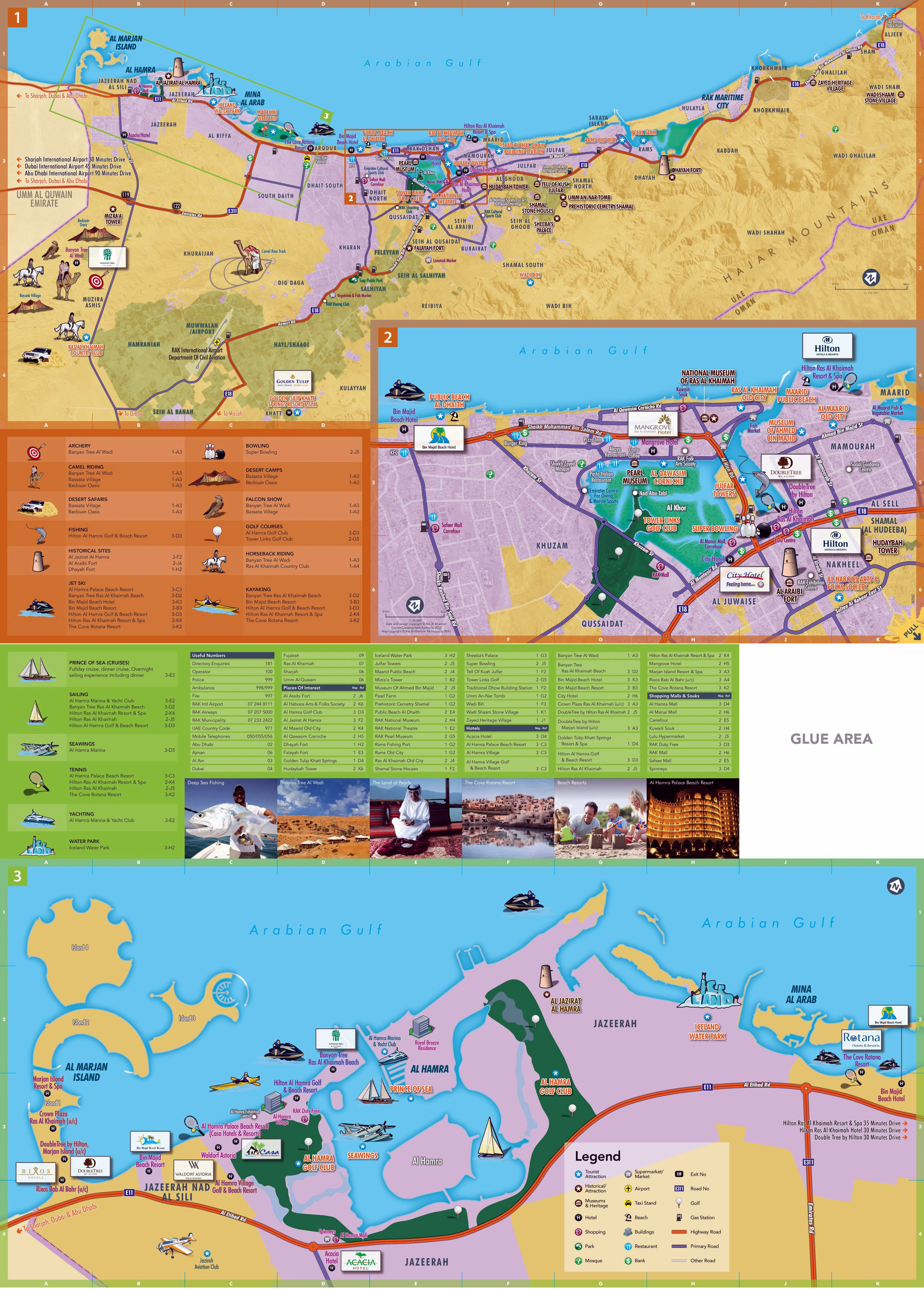 Large Ras al Khaimah Maps for Free Download and Print High