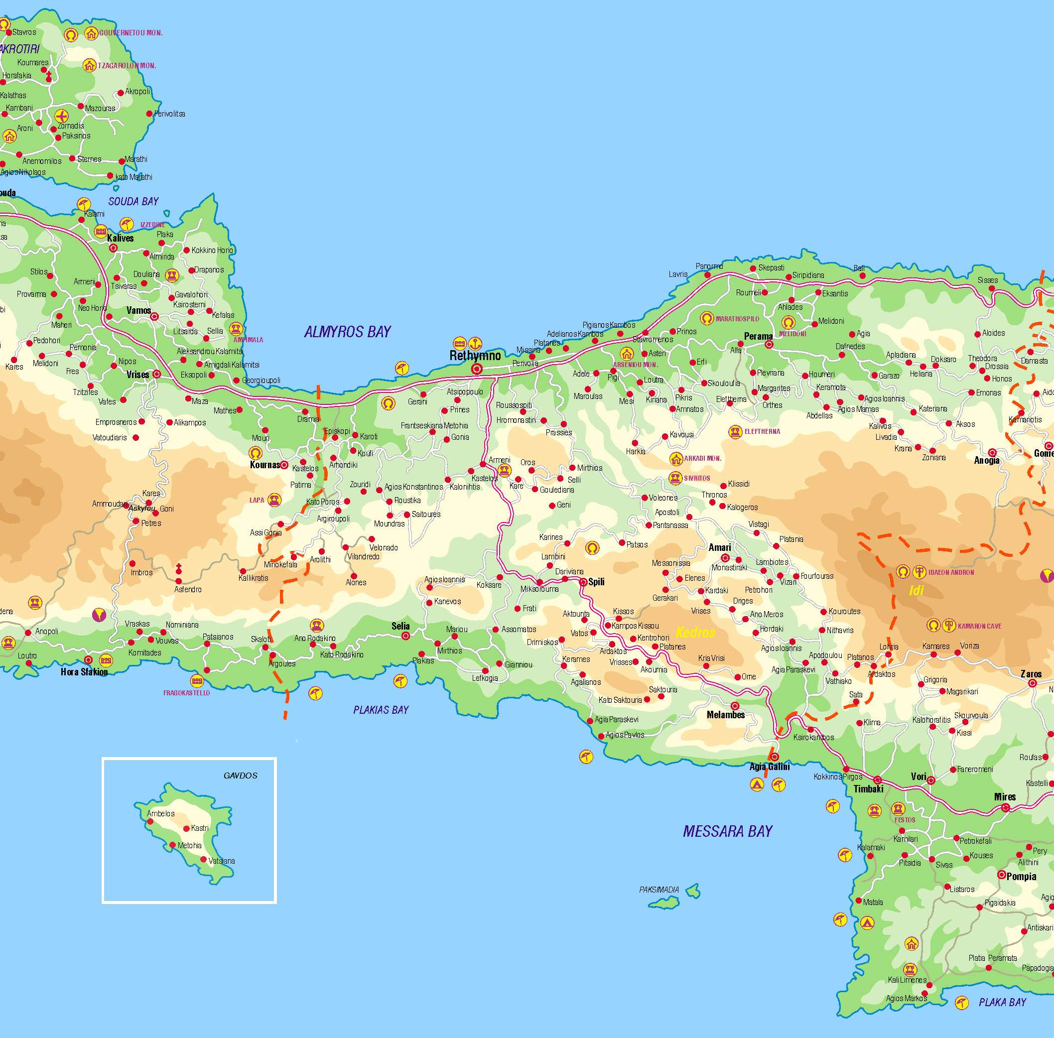 Large Rethymno Maps For Free Download And Print High