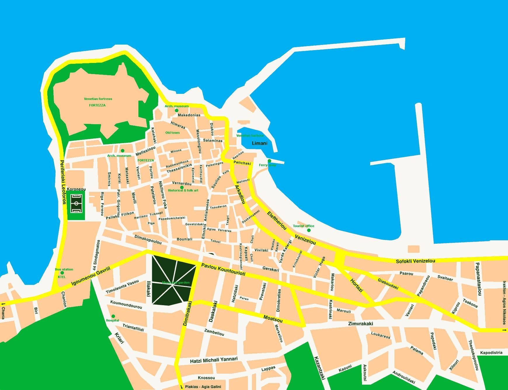 Large Rethymno Maps For Free Download And Print High Resolution
