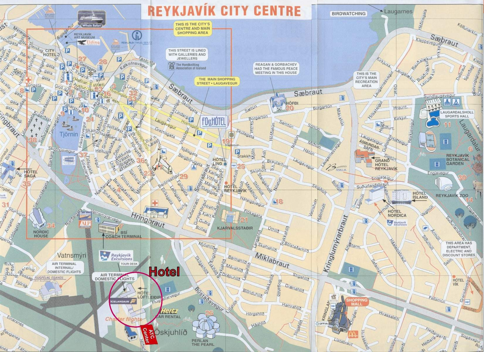 Detailed Map Of Reykjavik 4