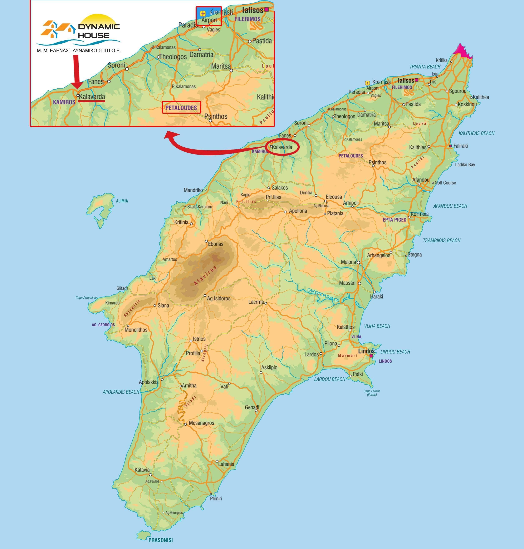 rhodos karte Stadtplan von Rhodos | Detaillierte gedruckte Karten von Rhodos  rhodos karte