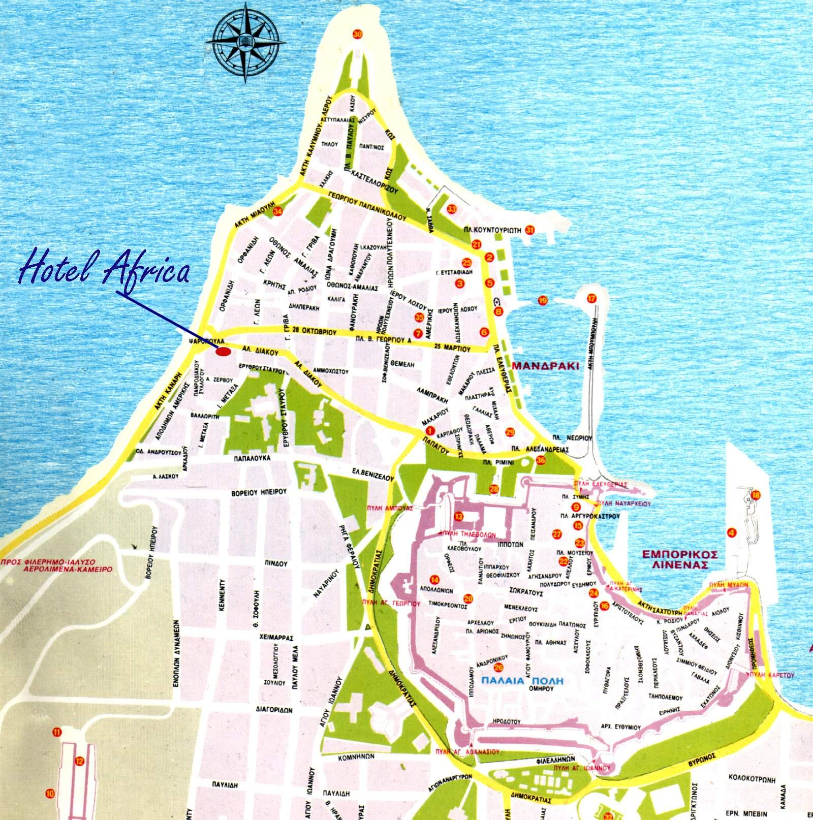 Large Rodos Maps For Free Download And Print High Resolution And