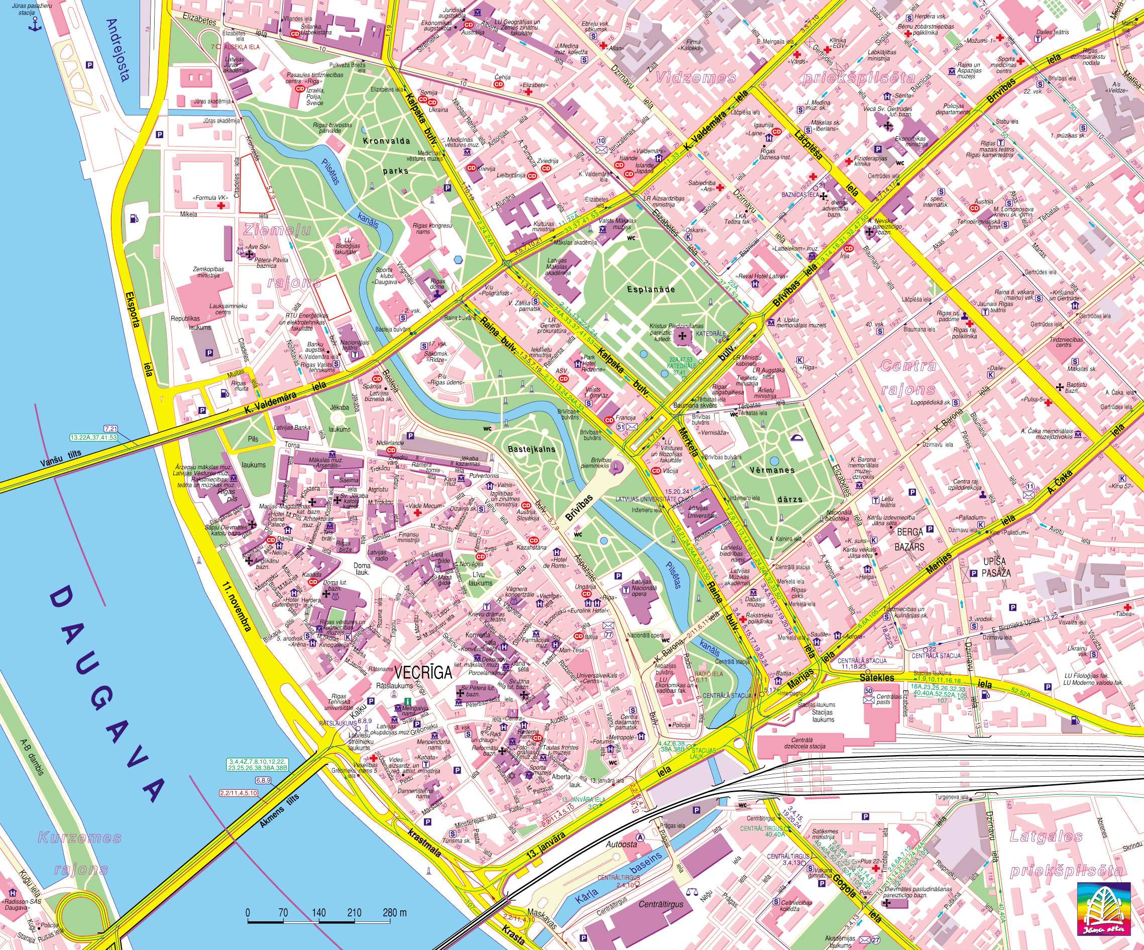 Large Riga Maps For Free Download And Print HighResolution And - Old riga map