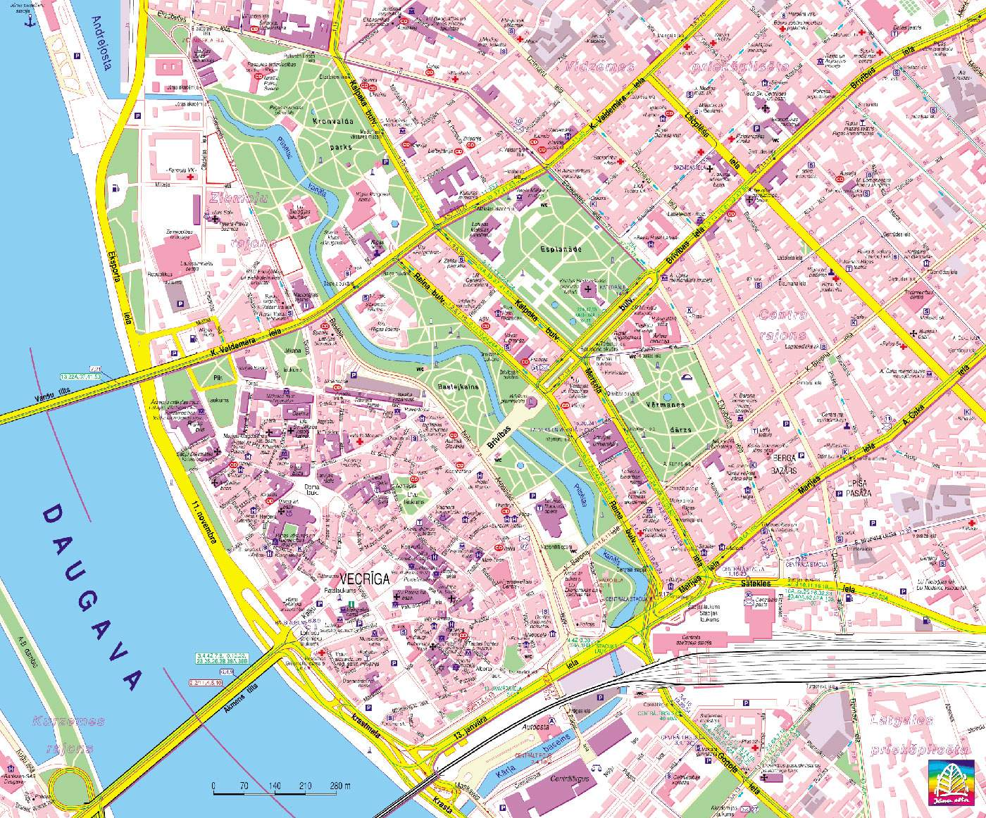 Large Riga Maps for Free Download and Print | High-Resolution and ...
