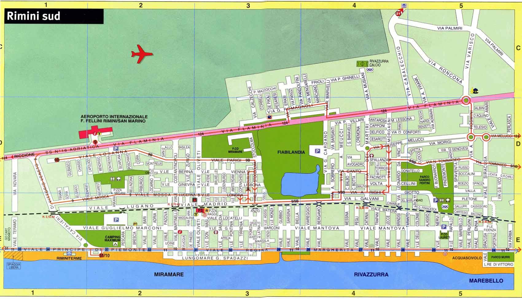 rimini italia mapa Large Rimini Maps for Free Download and Print | High Resolution  rimini italia mapa