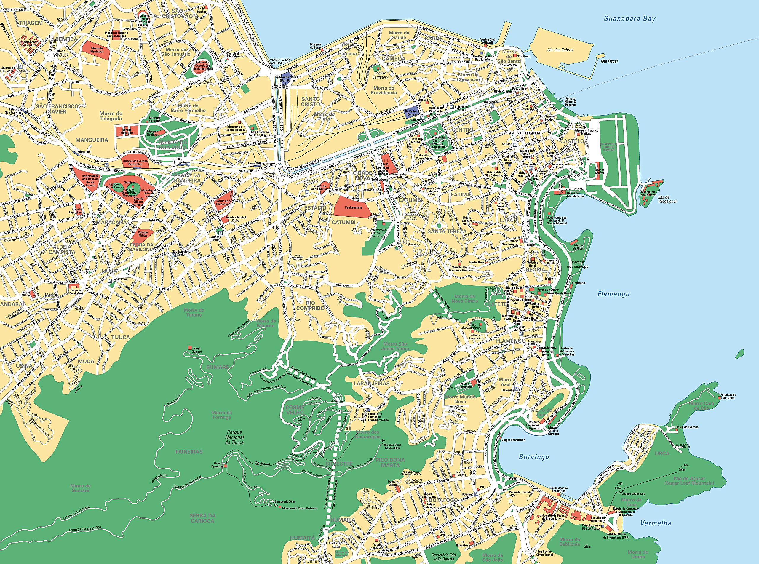 Large Rio de Janeiro Maps for Free Download and Print | High