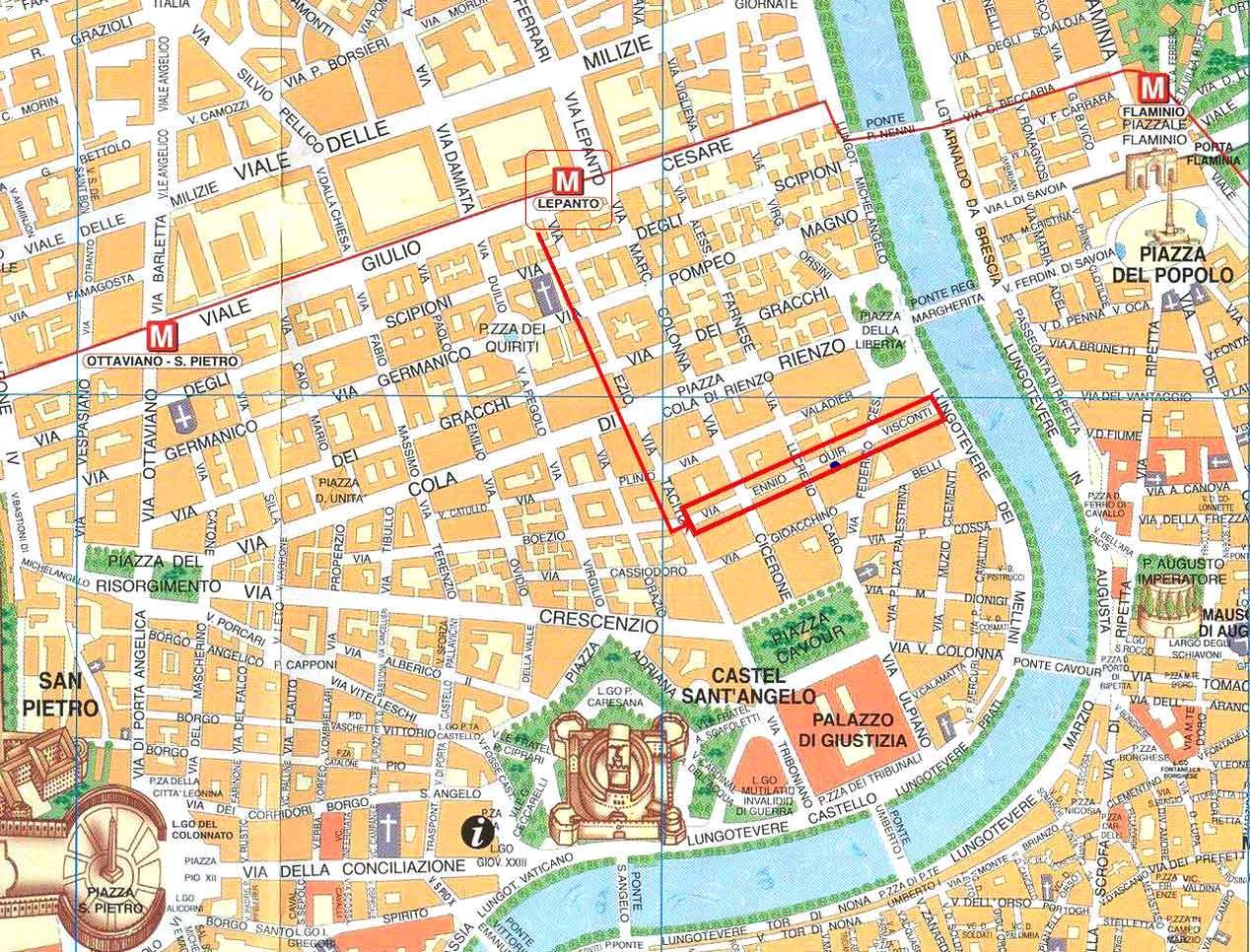 Rome Map Pdf