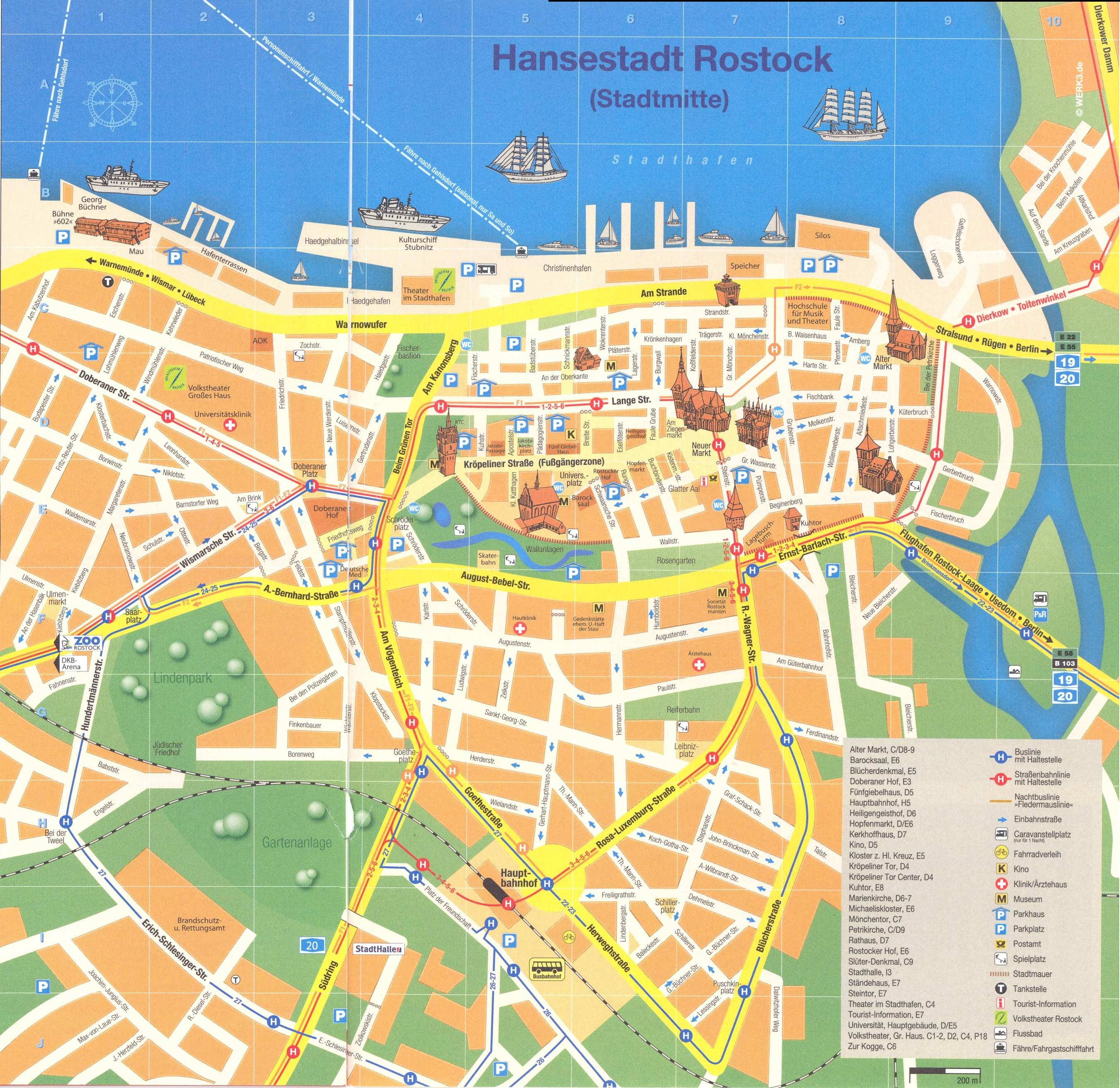 large rostock maps for free download and print  highresolution  - large map of rostock