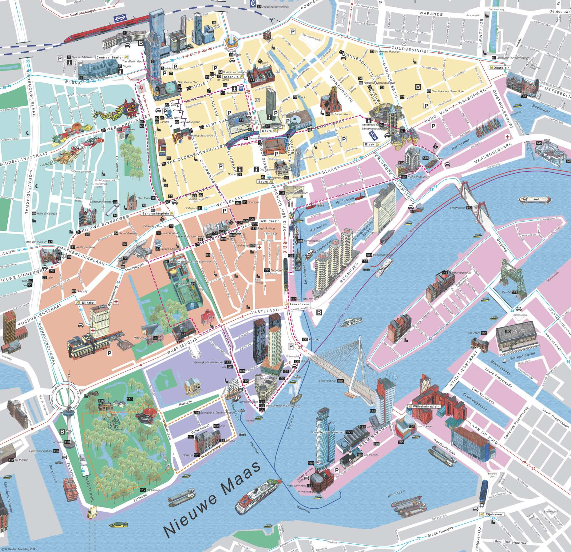 Map of Rotterdam The Hague Airport (RTM): Orientation and ...