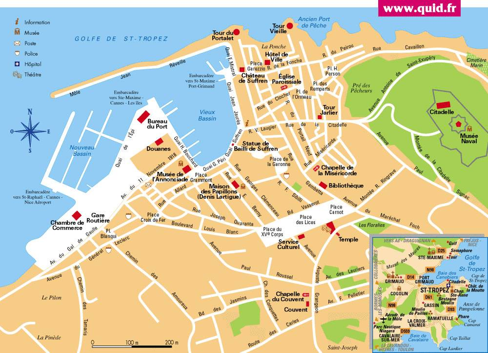 Large SaintTropez Maps for Free Download and Print High