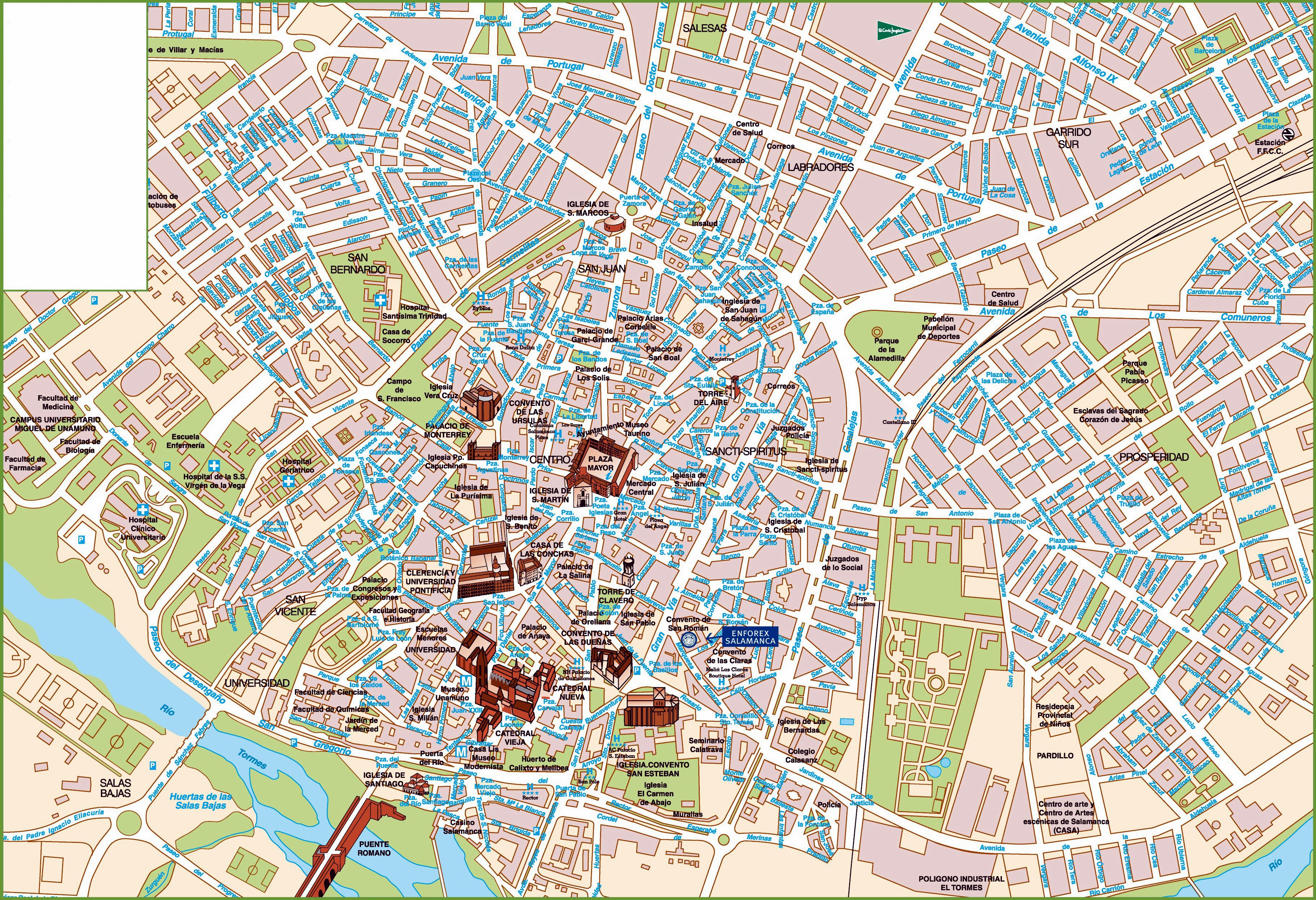Large Salamanca Maps for Free Download and Print | High-Resolution ...