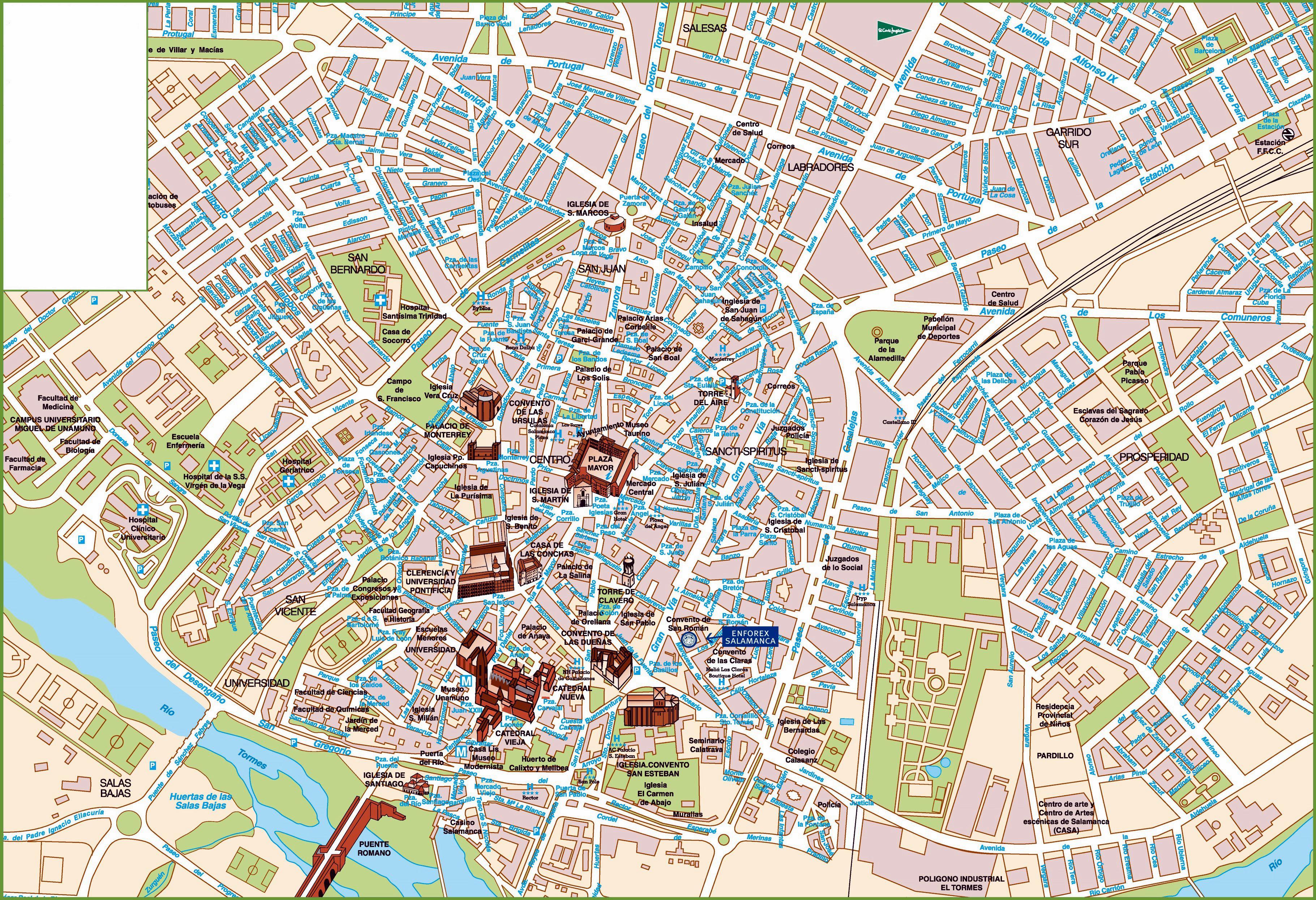 salamanca mapa Salamanca   plan de la ciudad | Mapas imprimidos de Salamanca  salamanca mapa