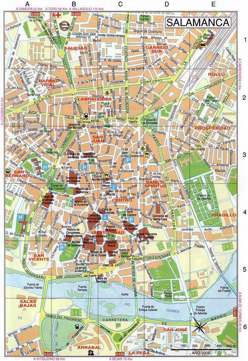 Large Salamanca Maps for Free Download and Print HighResolution