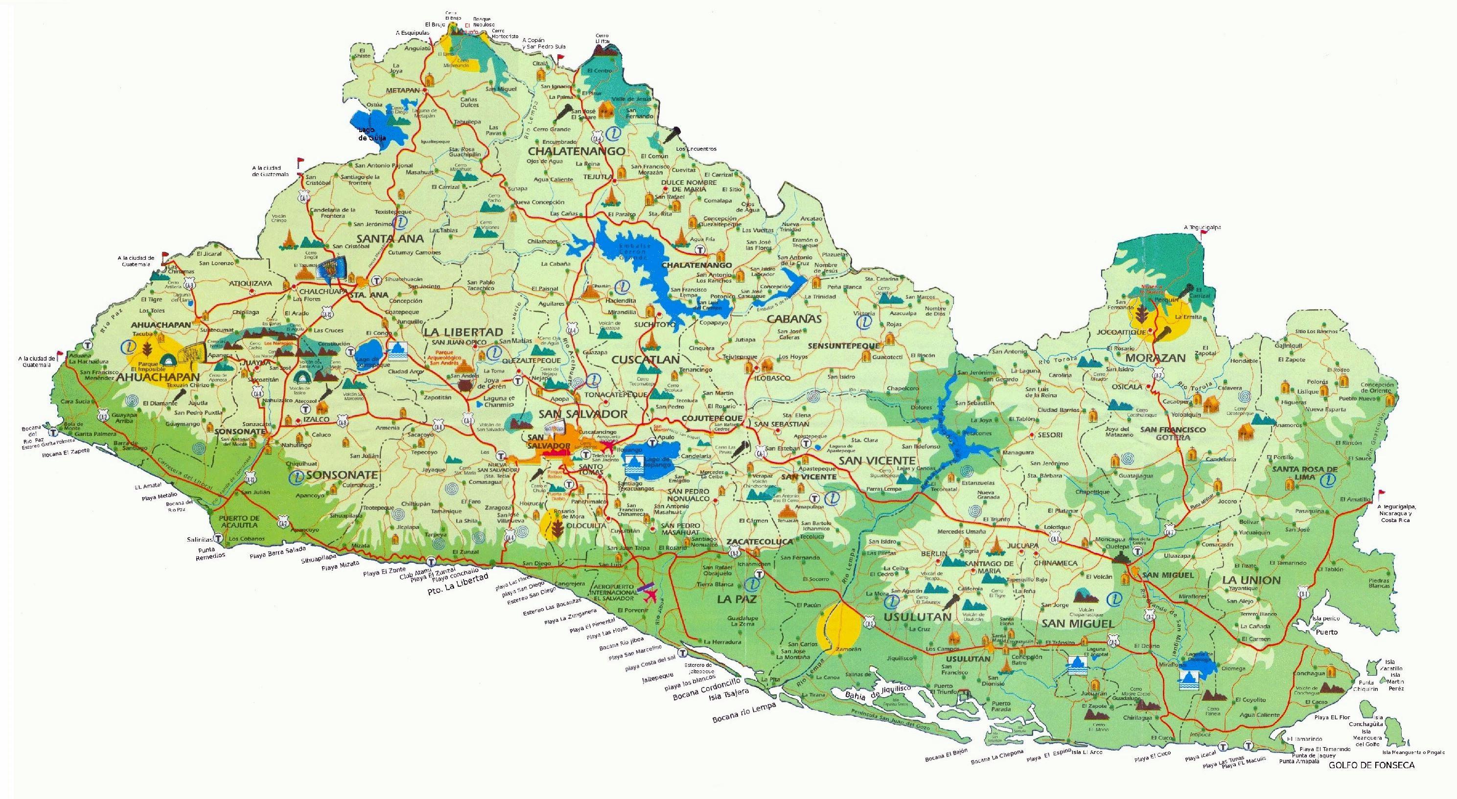 Mapas Detallados De Salvador Para Descargar Gratis E Imprimir