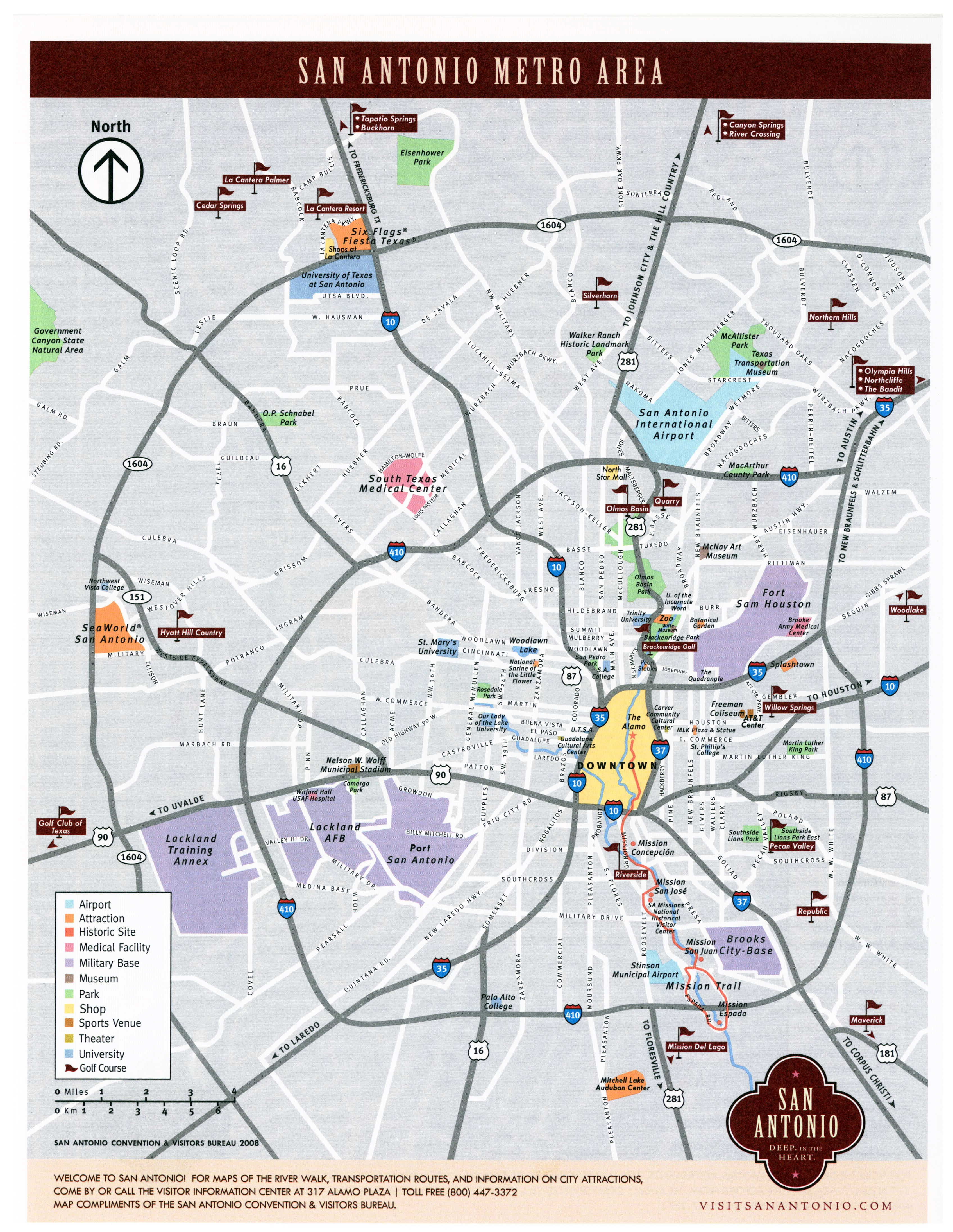San Antonio Map Large San Antonio Maps for Free Download and Print | High  San Antonio Map