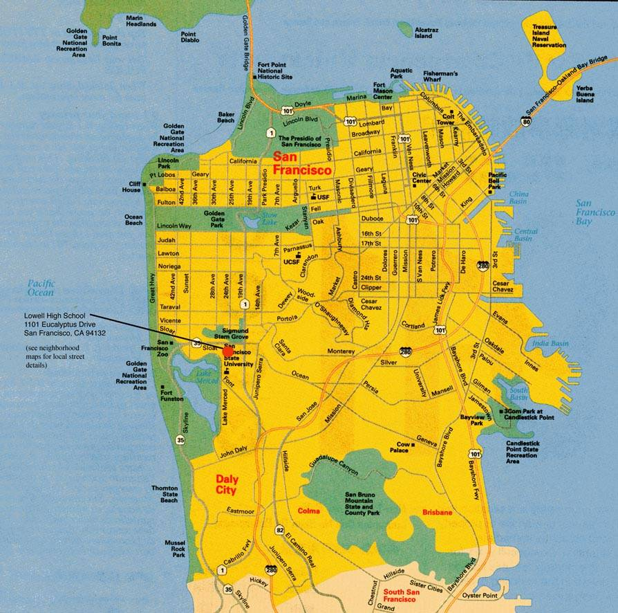 San Francisco City Map Large San Francisco Maps for Free Download and Print | High