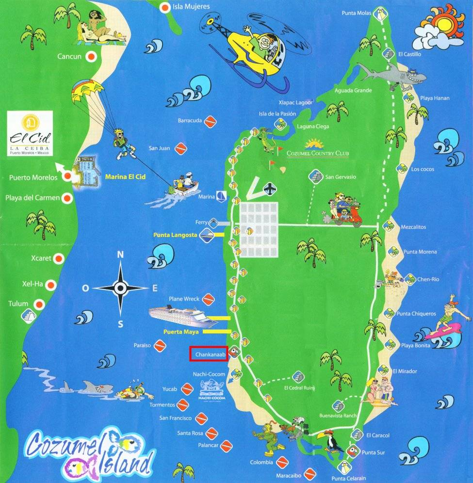 large cozumel maps for free download and print  highresolution  - large map of cozumel