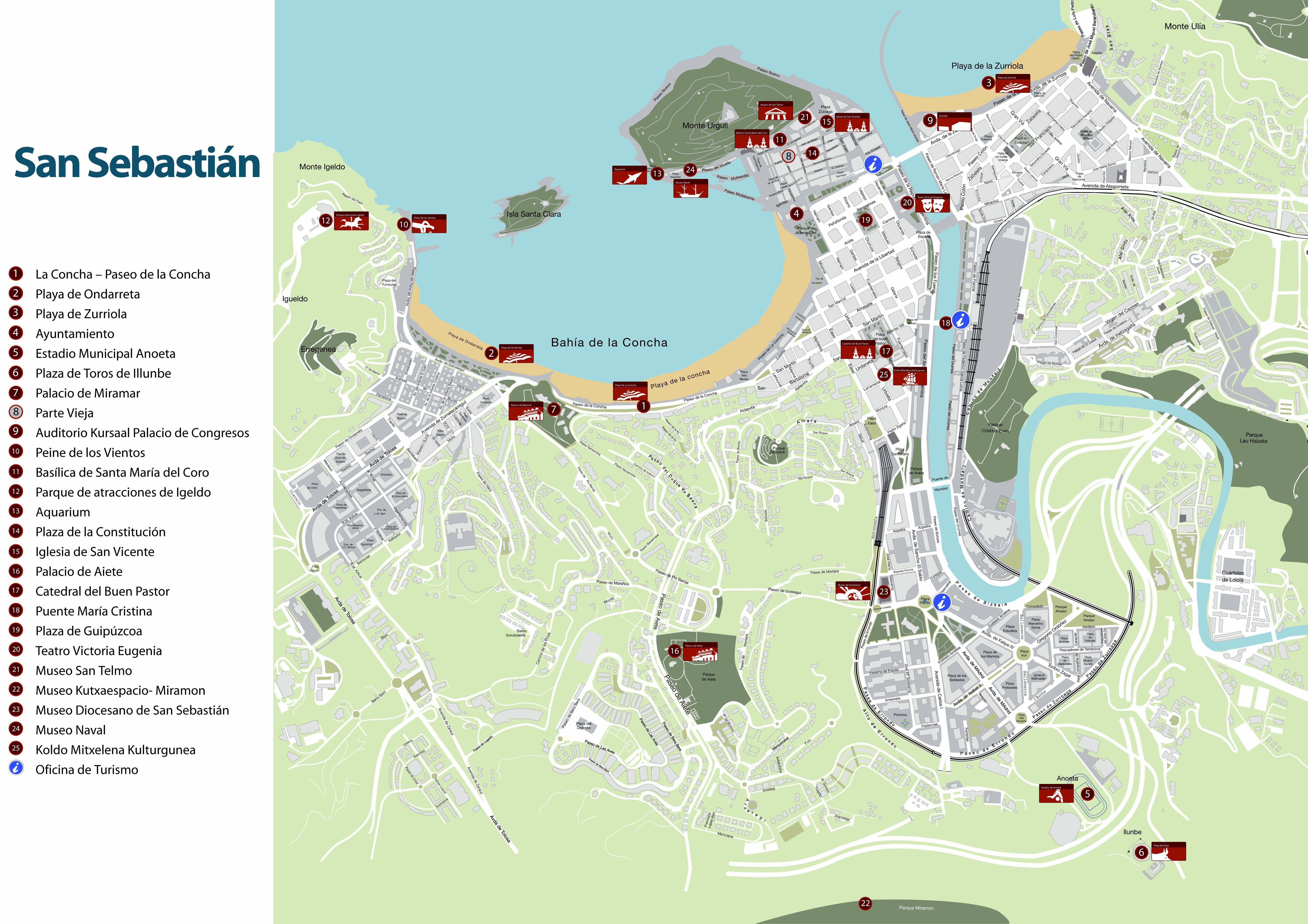 San Sebastian Maps for Free Download and Print