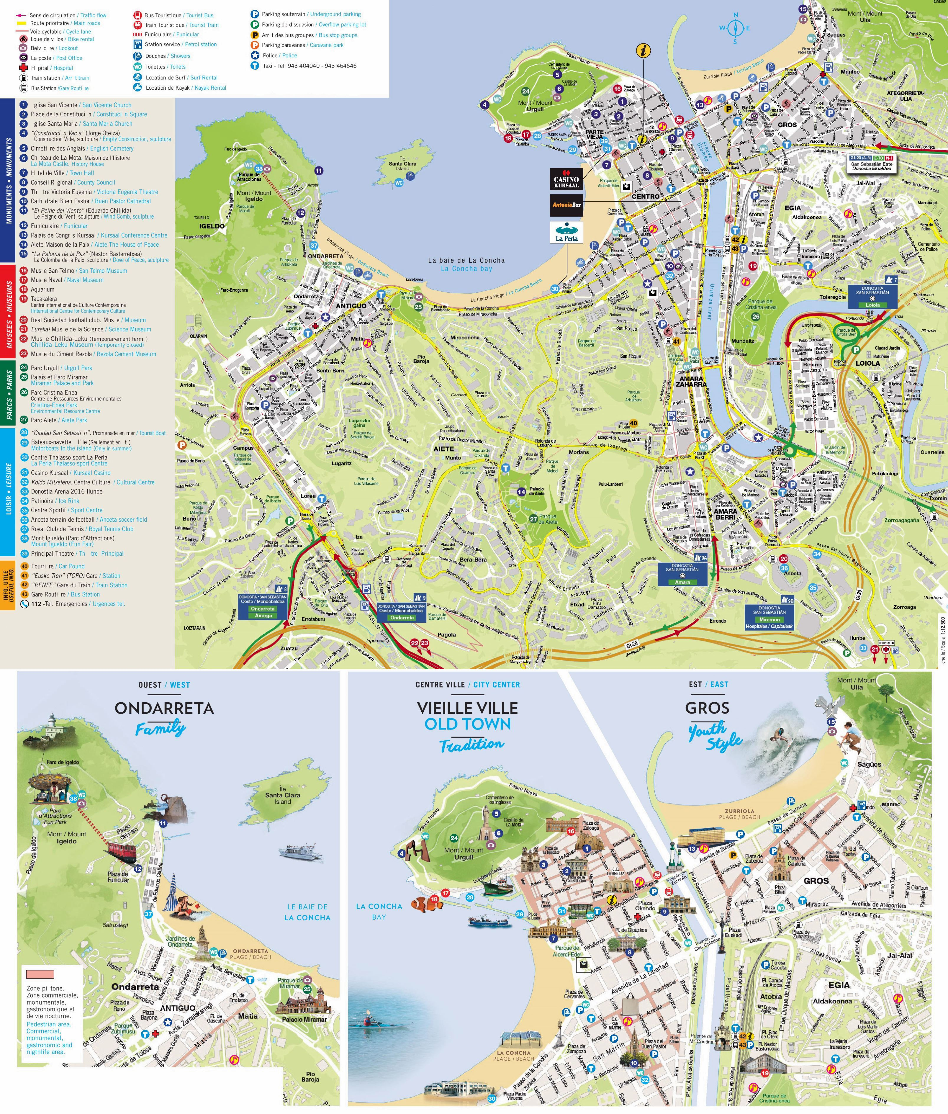 Large San Sebastian Maps for Free Download and Print | High ...