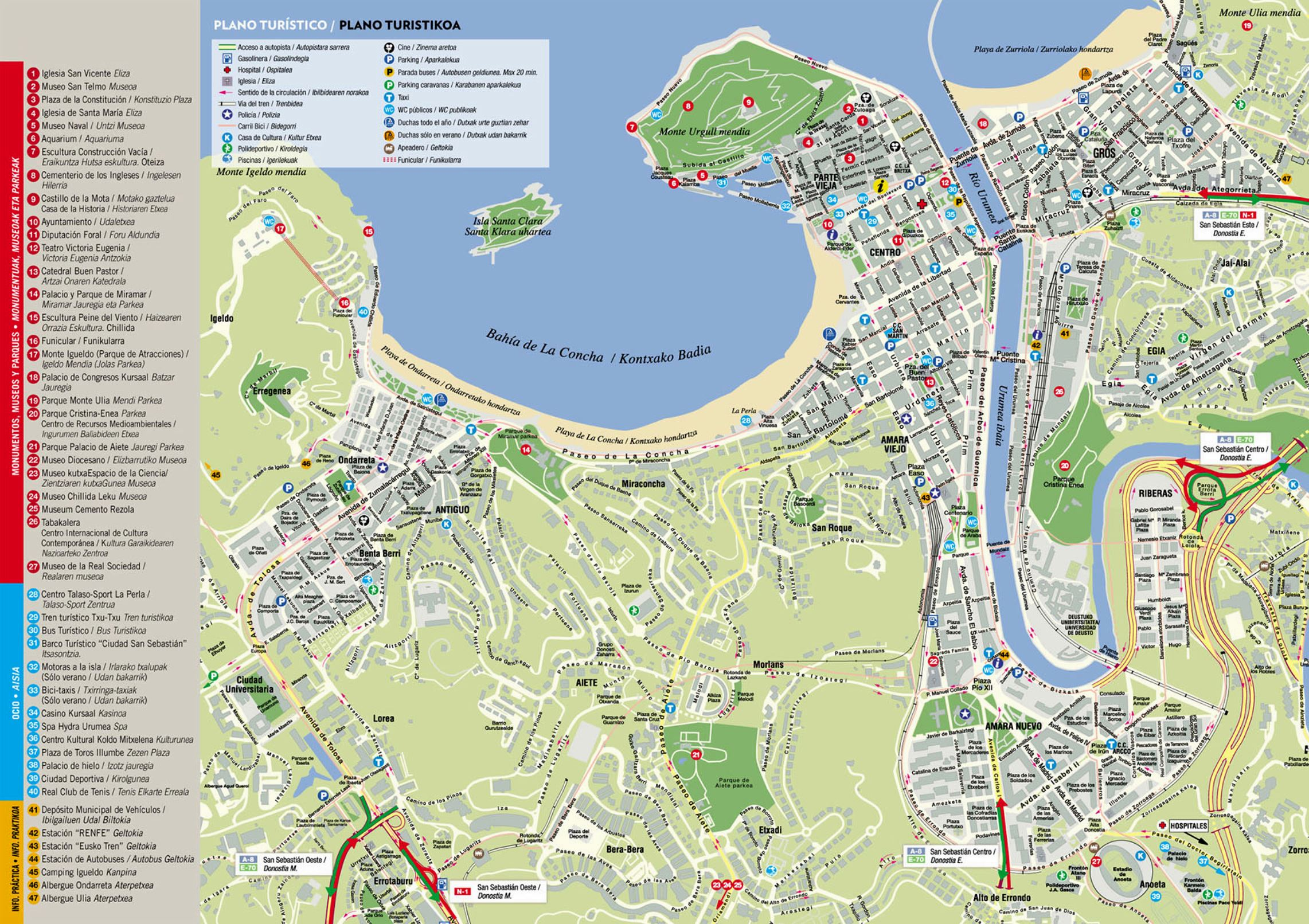 San Sebastian Map Large San Sebastian Maps for Free Download and Print | High  San Sebastian Map