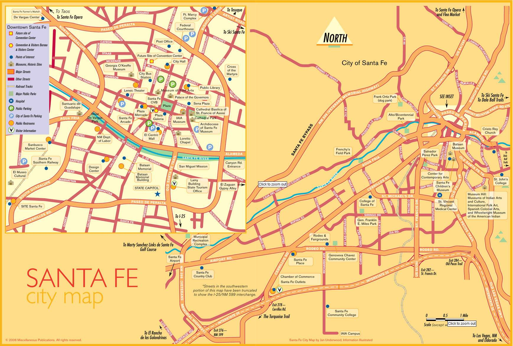 Large Santa Fe Maps for Free Download and Print | High ...