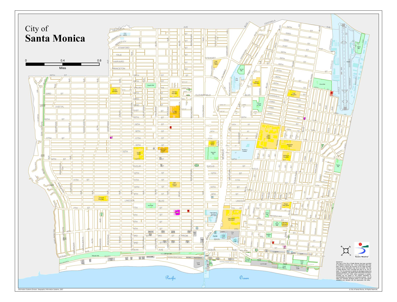 santa monica karta Large detailed map of santa monica santa monica karta
