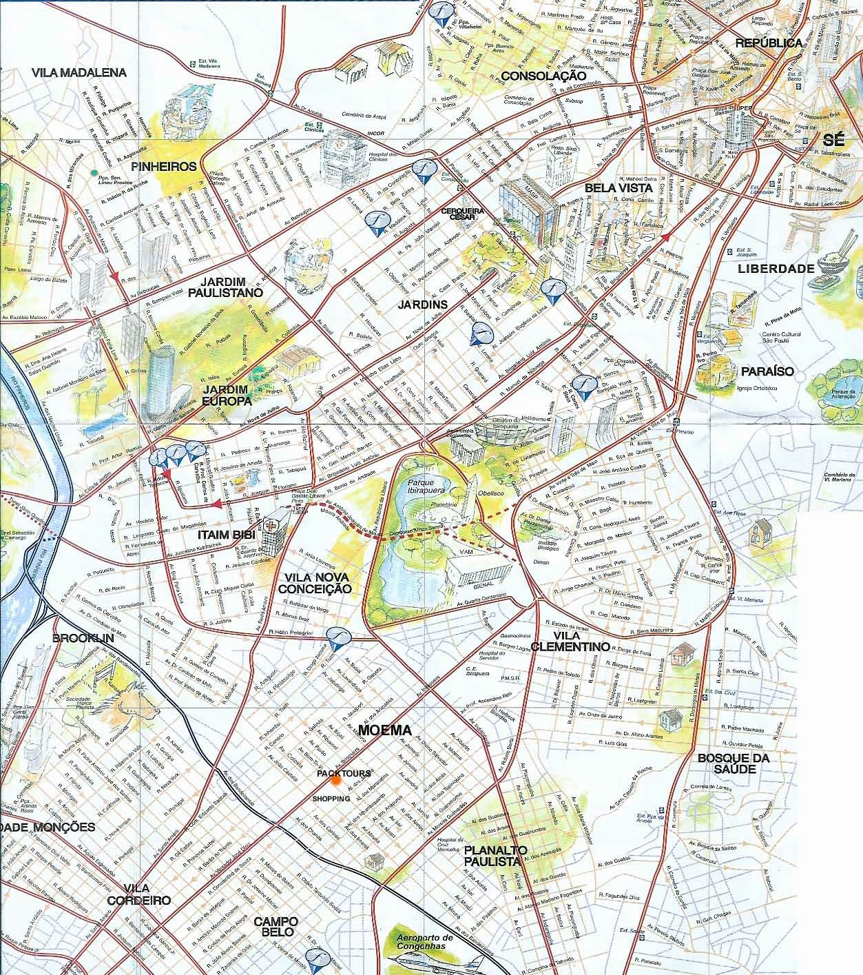 Large Sao Paulo Maps for Free Download and Print | High-Resolution ...