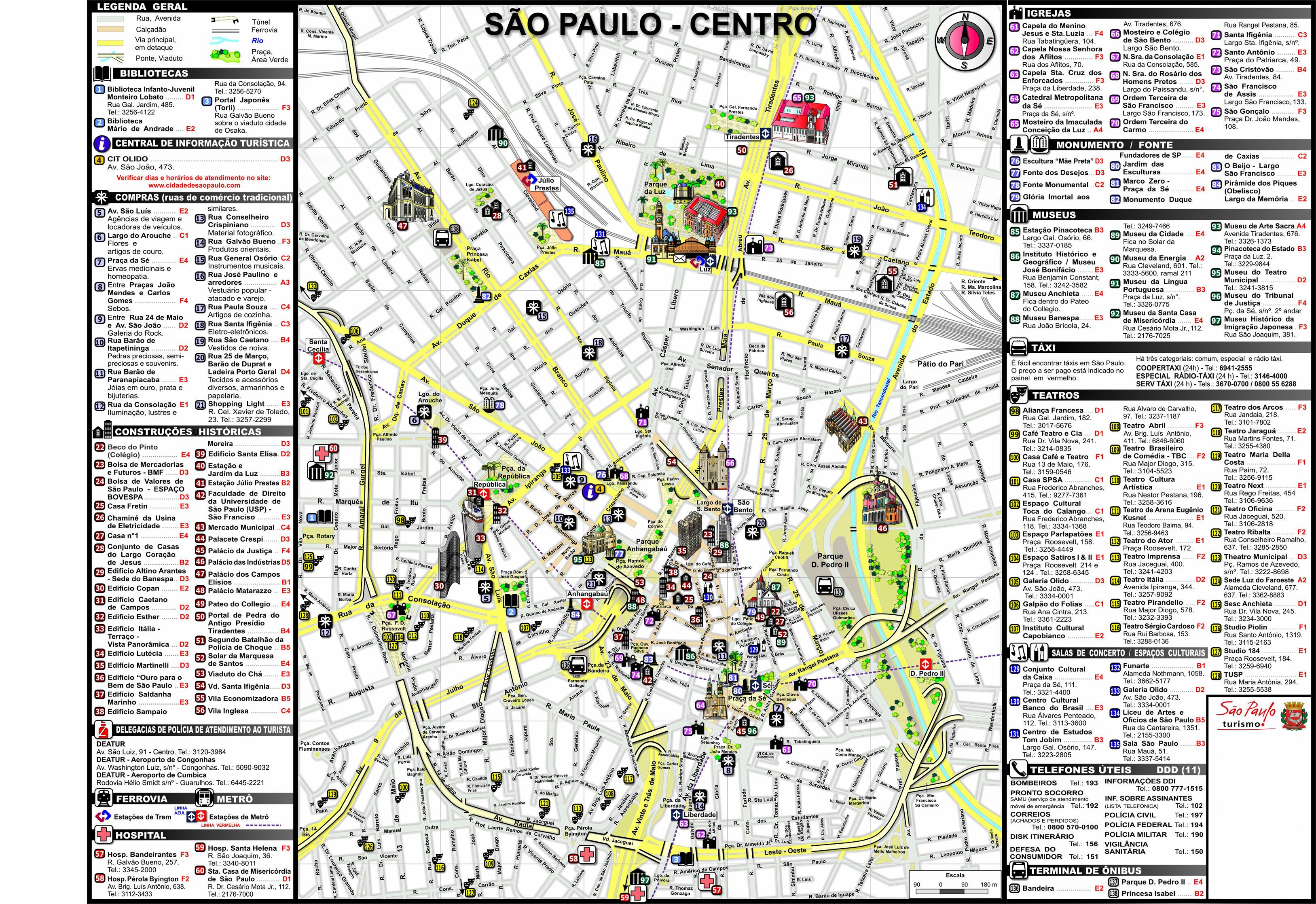 Large Sao Paulo Maps for Free Download and Print | High ...