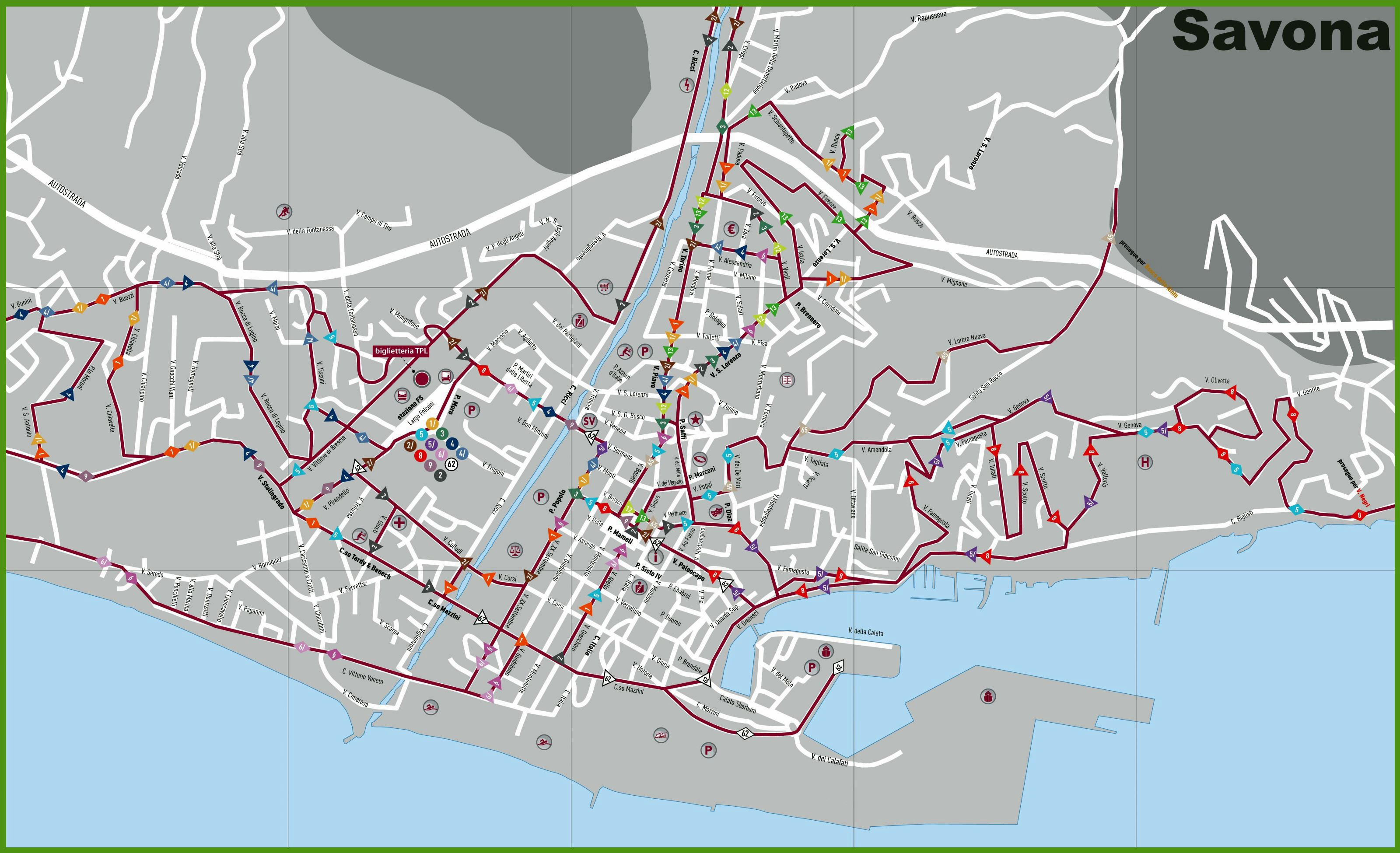 Large Savona Maps for Free Download and Print HighResolution and